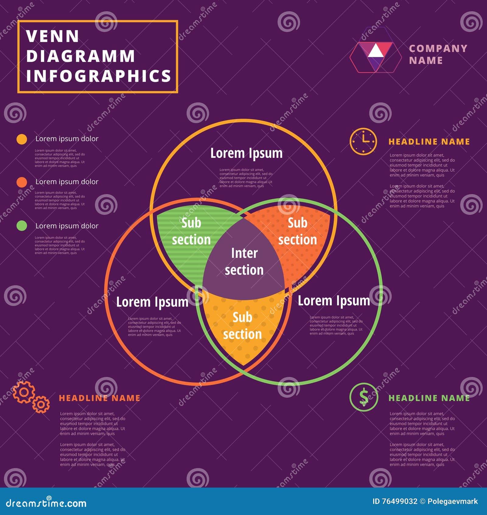 Crculos do vetor do diagrama de venn projeto do molde de download crculos do vetor do diagrama de venn projeto do molde de infographics ilustrao do vetor ccuart Choice Image