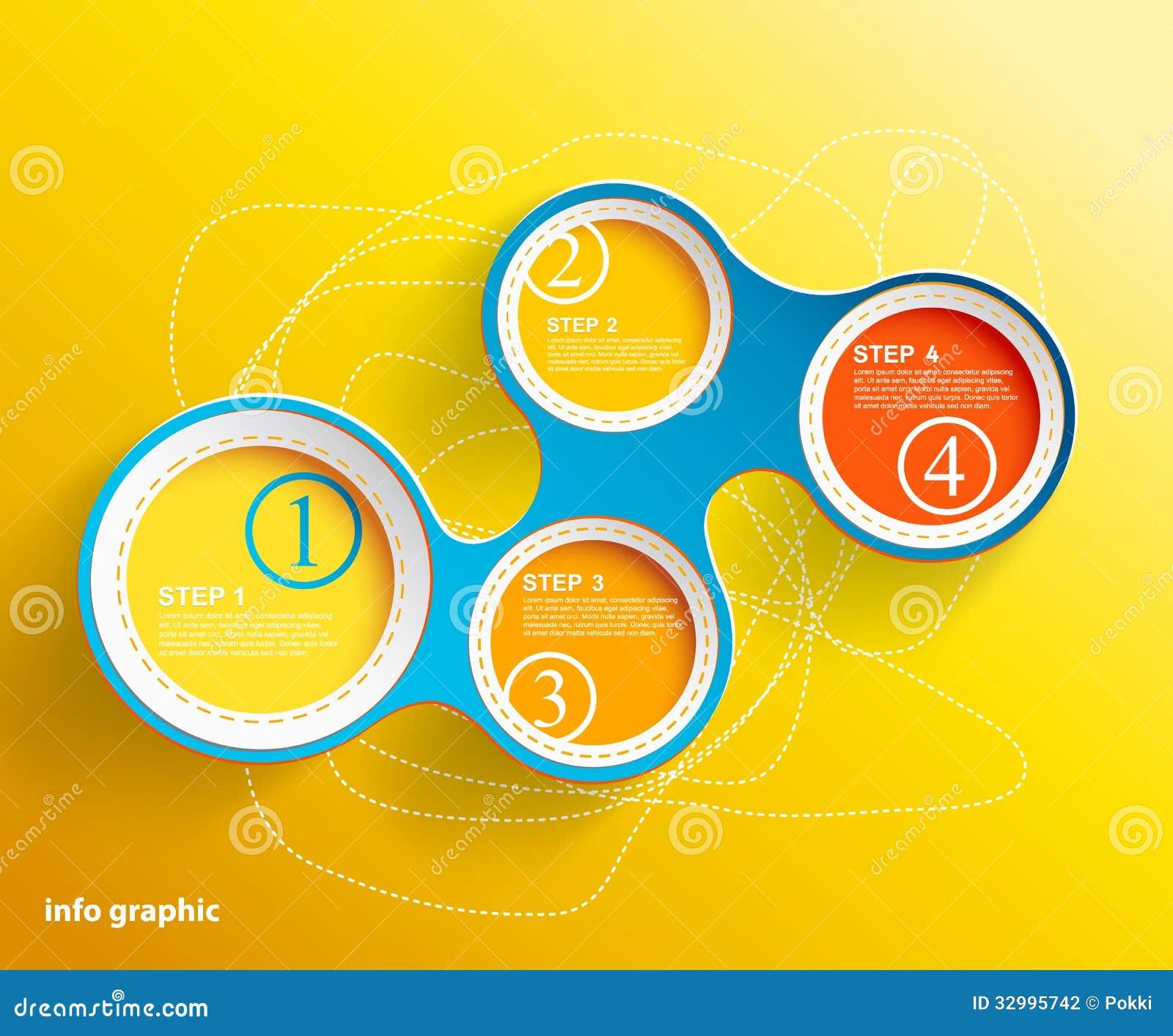 Círculos gráficos de la información con el lugar para su texto.