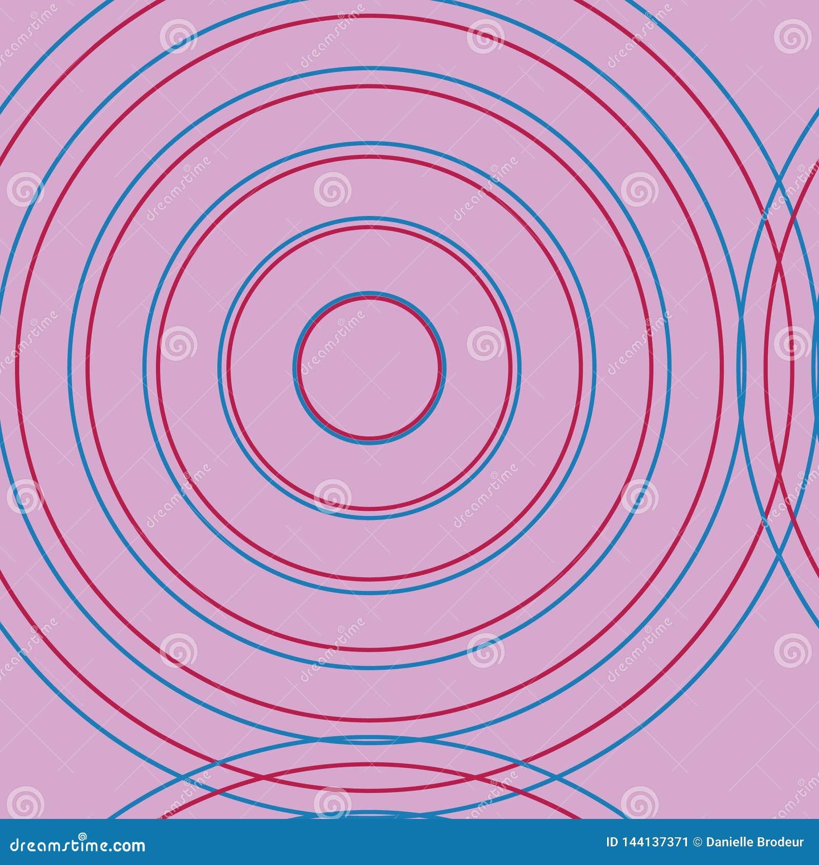 Círculos rosados en círculos