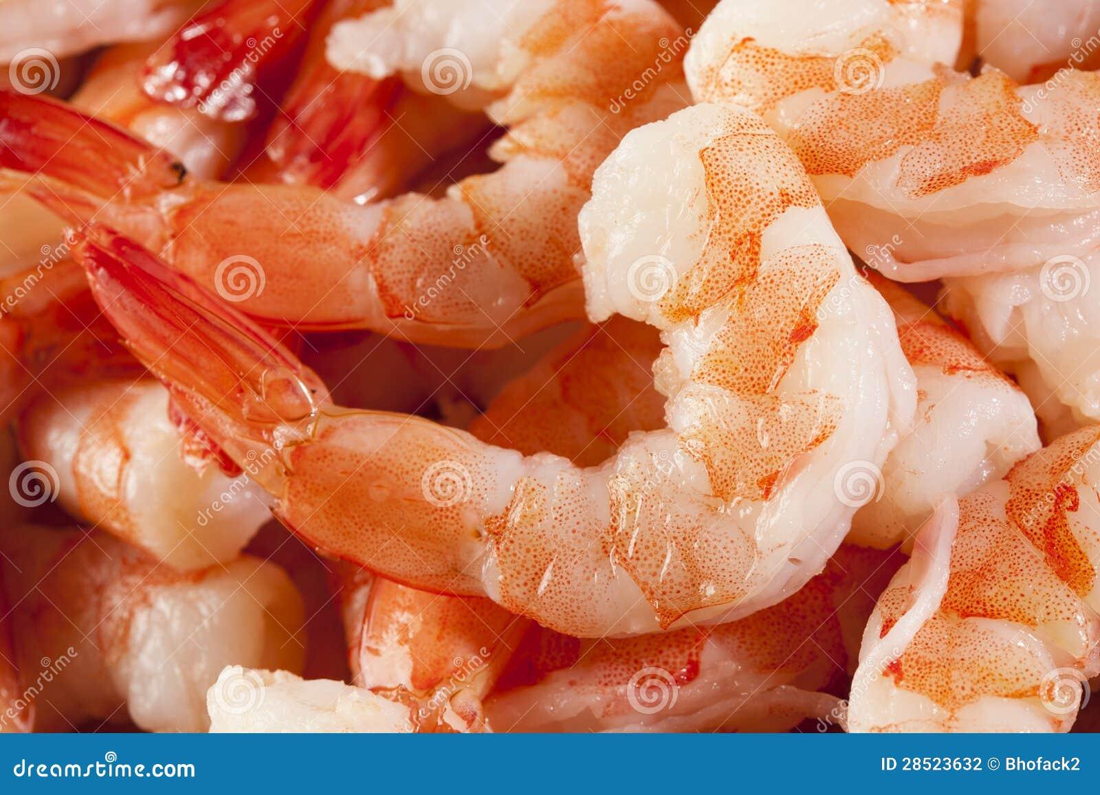 Cóctel de camarón orgánico fresco