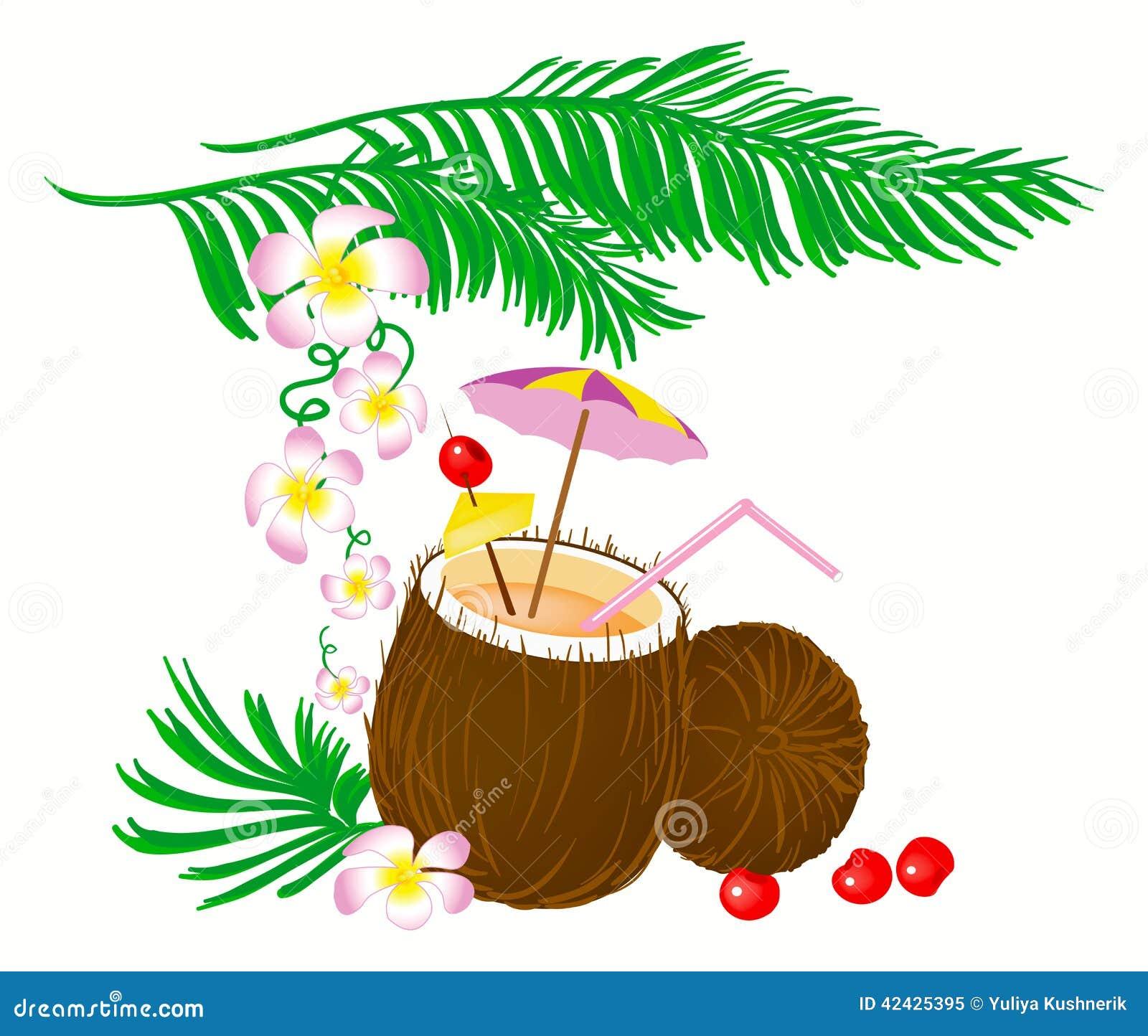 Cóctel del coco