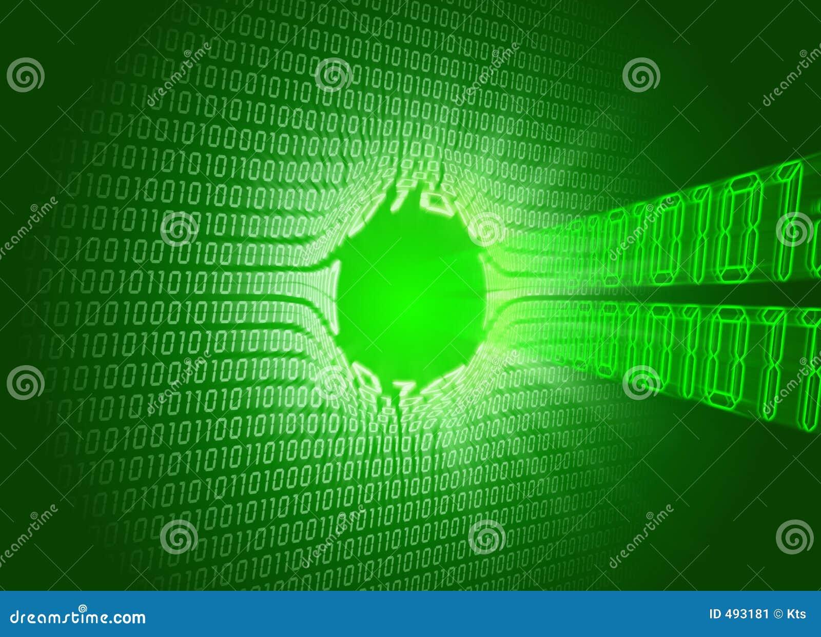 Código binario (agujero)