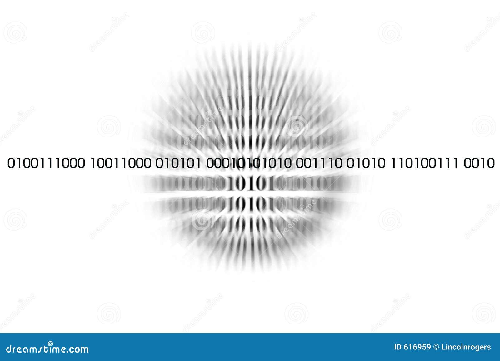 Código binario sobre blanco