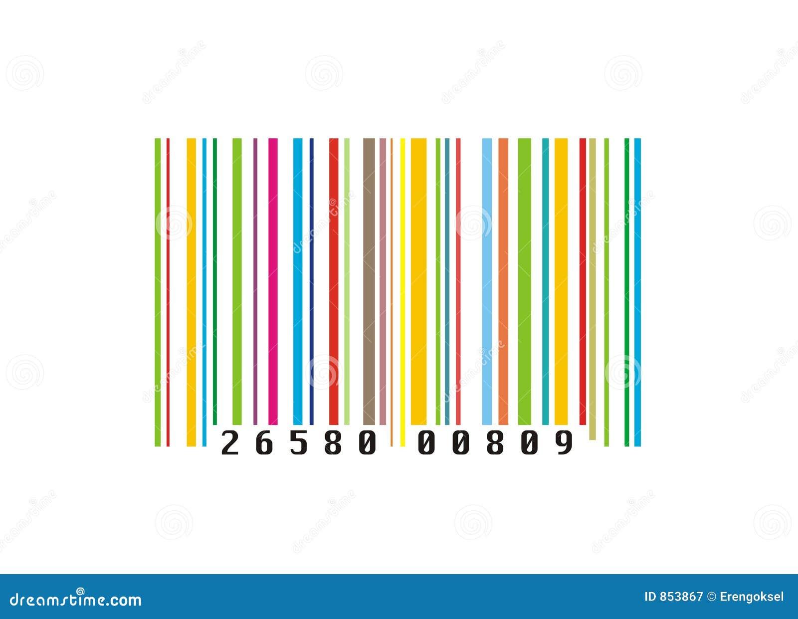 Código de barras creativo colorido