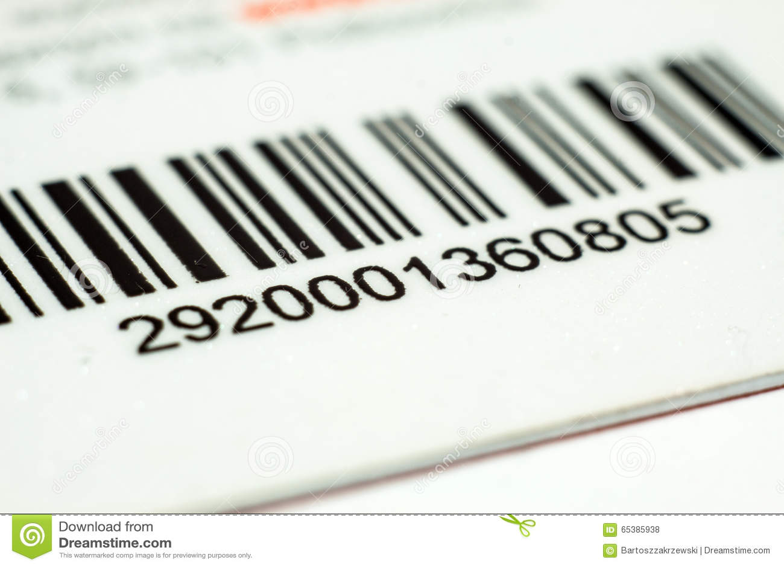 Código de barras - preto e branco