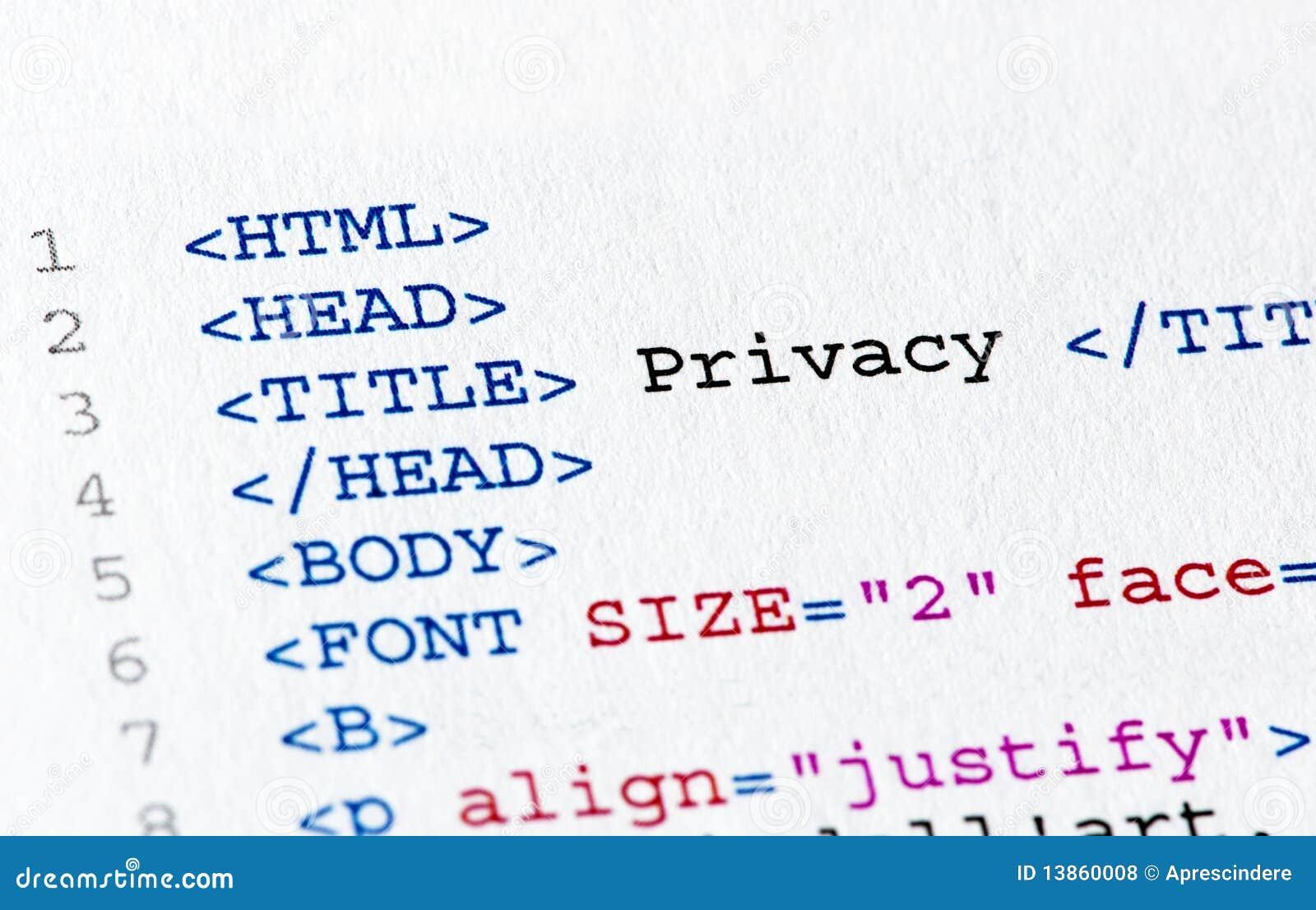 Código del HTML