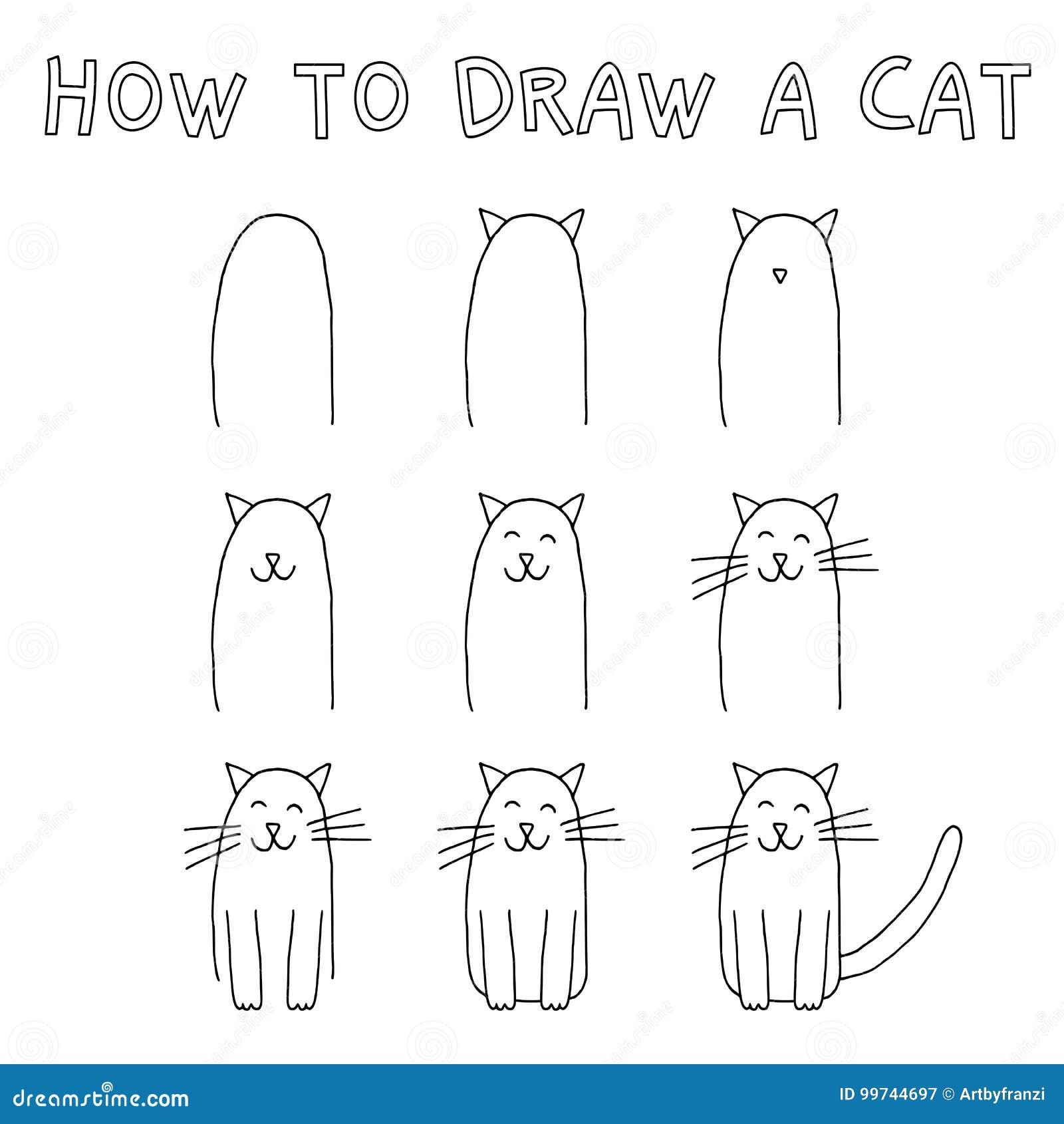 Cómo dibujar un gato