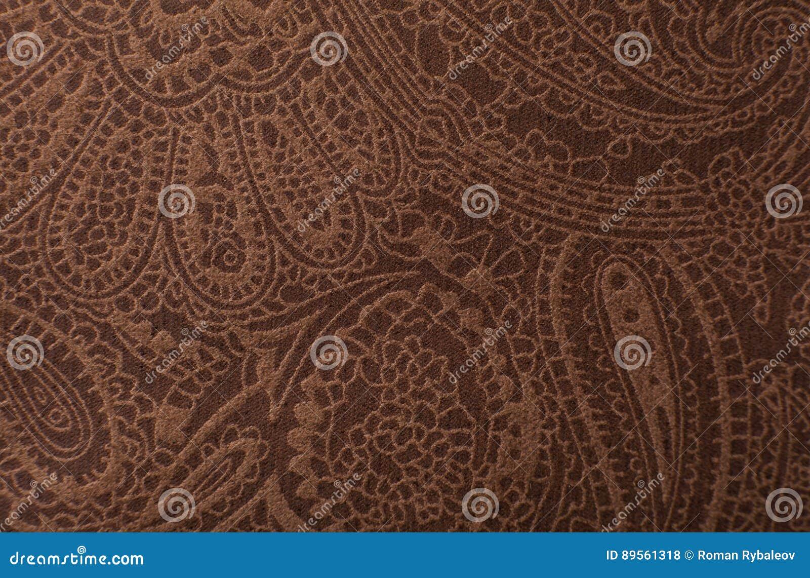 Cópia da textura do couro de Brown escuro como o fundo