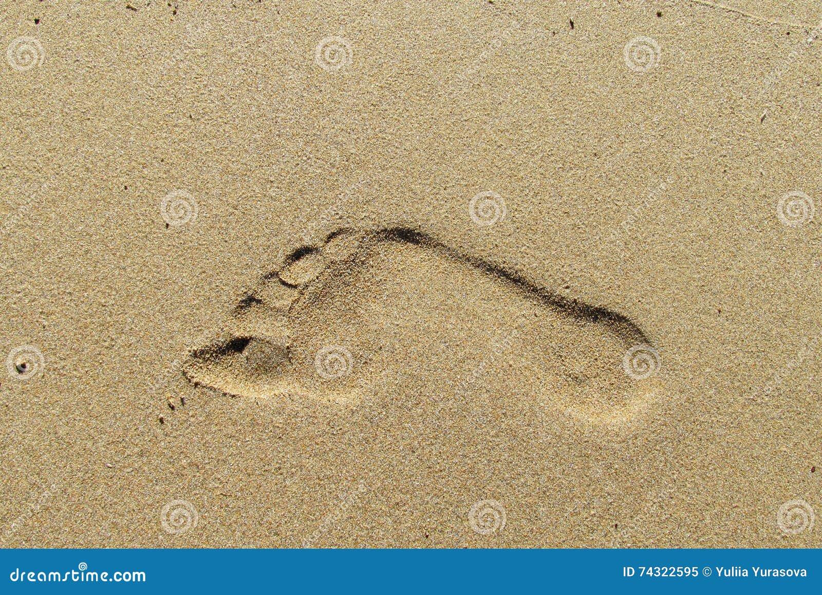 Cópia do pé na areia