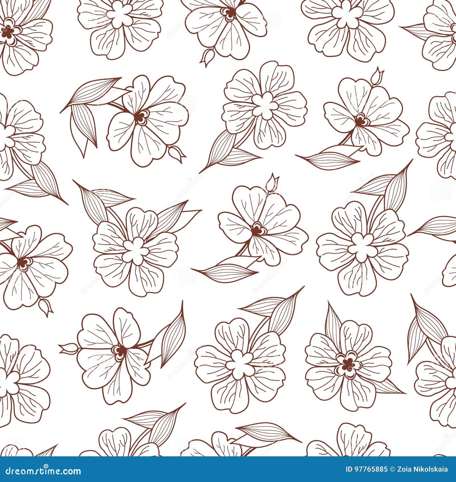 Cópia floral Teste padrão sem emenda botanical