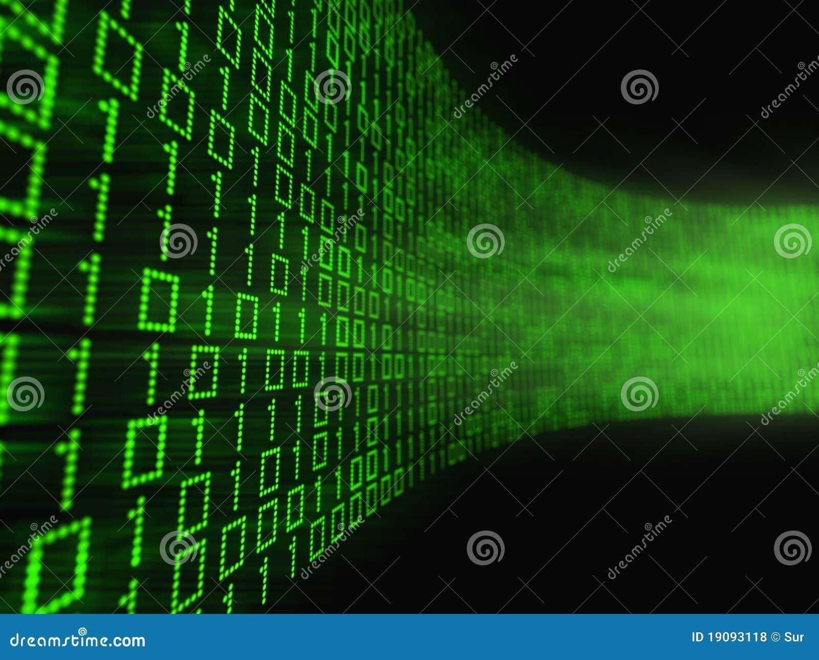 Córrego de dados binários