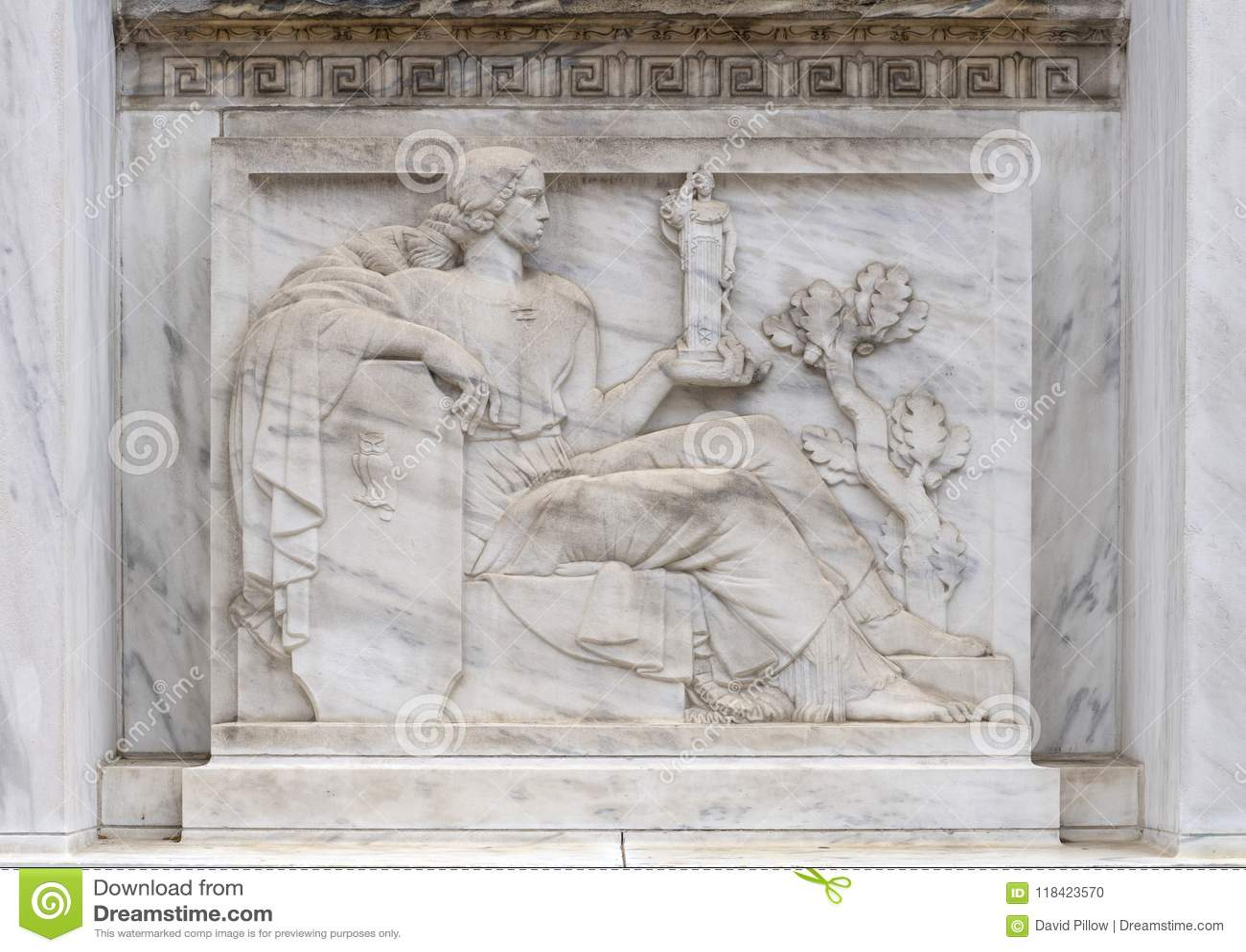 Côté Ouest de sculpture en bas-relief de l entrée principale au Robert N C Nix, Sr Bâtiment fédéral
