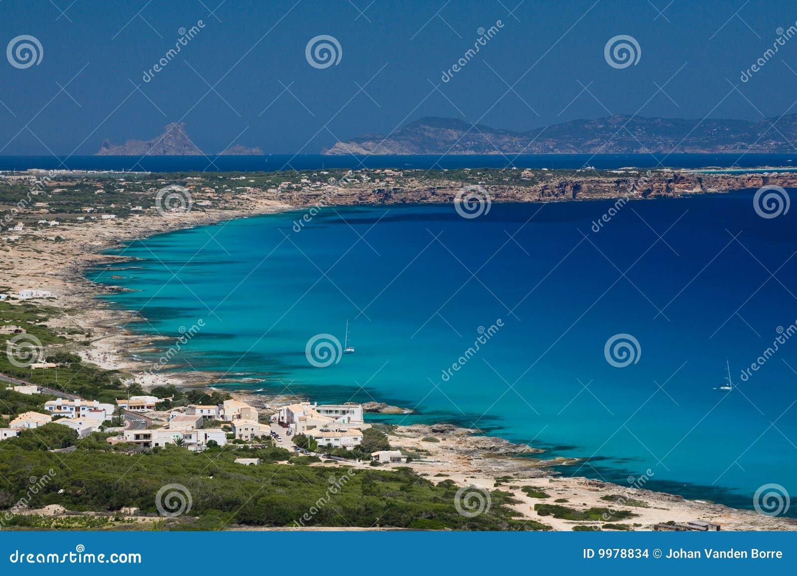 Côte formentera de plages