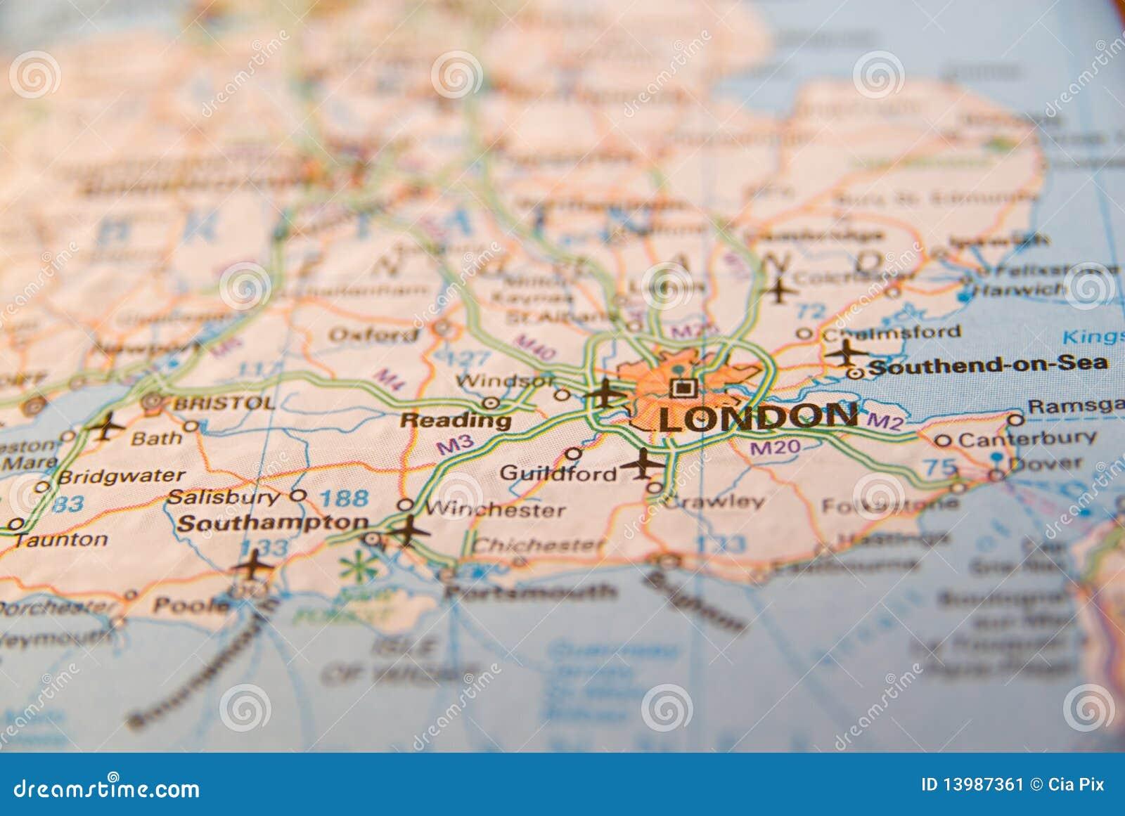 Carte Angleterre Cote Sud.Cote Sud De Carte De L Angleterre Image Stock Image Du