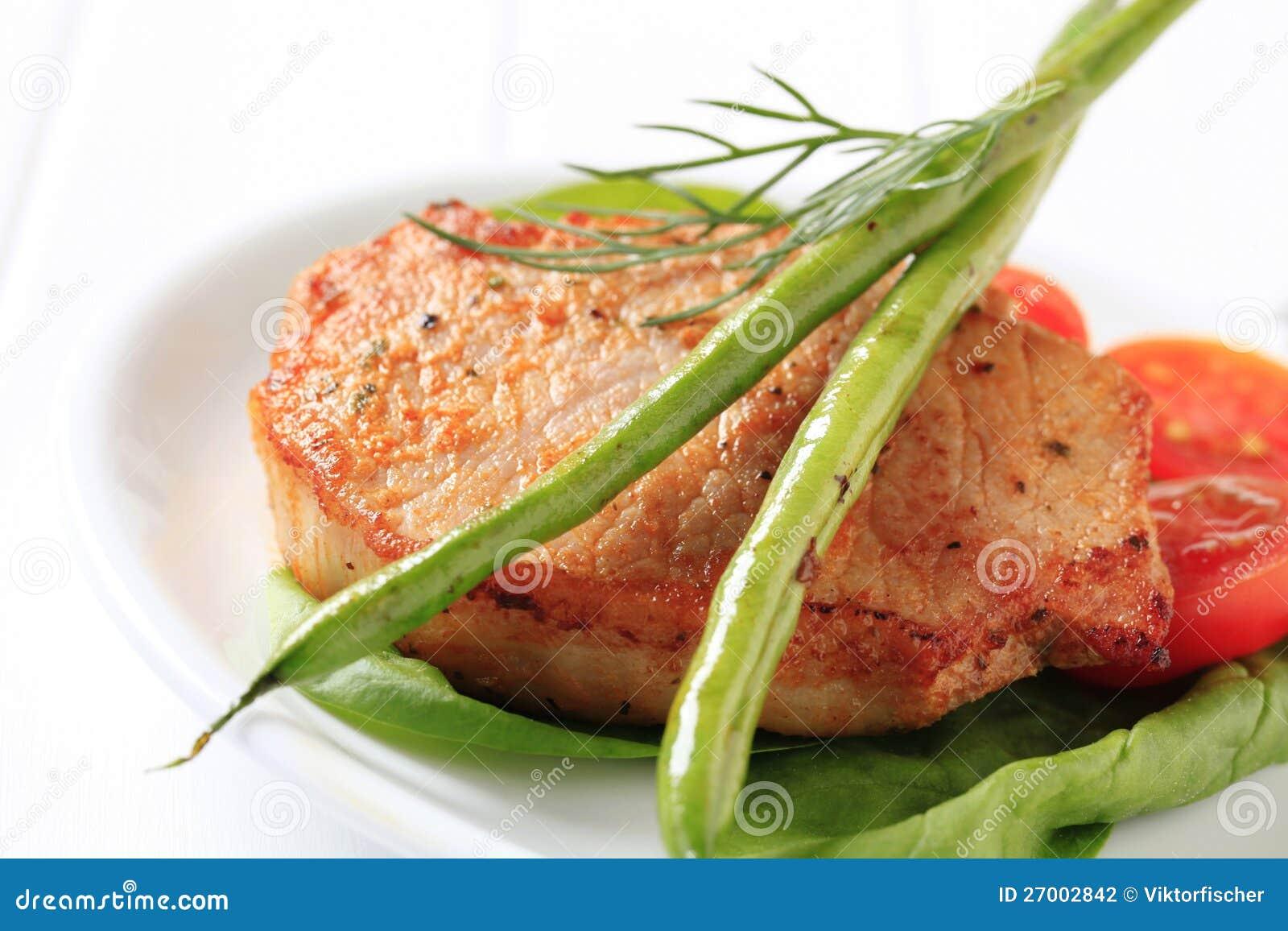 Côtelette de porc marinée