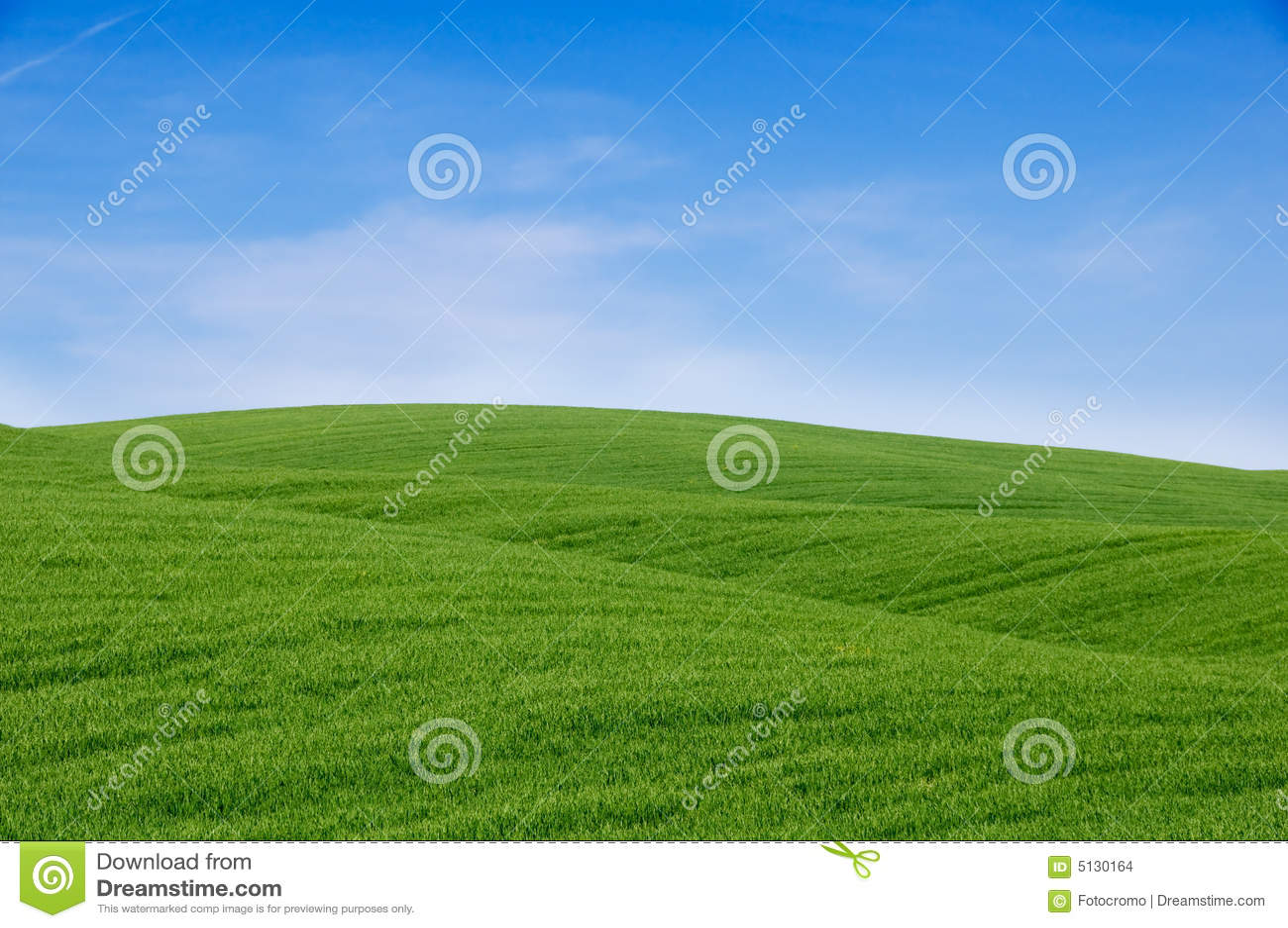 Côtes vertes et ciel bleu