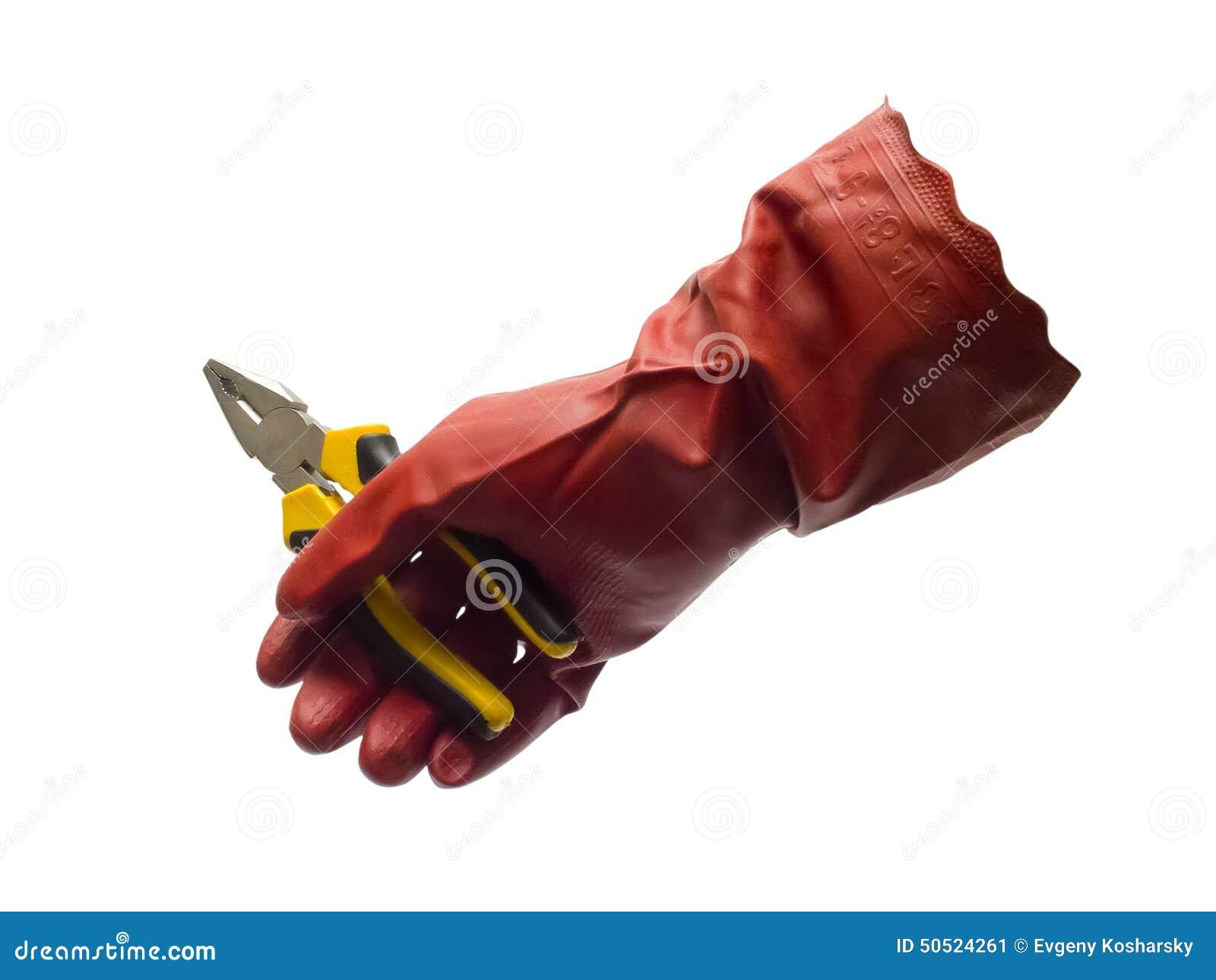 Cążki i rękawiczka