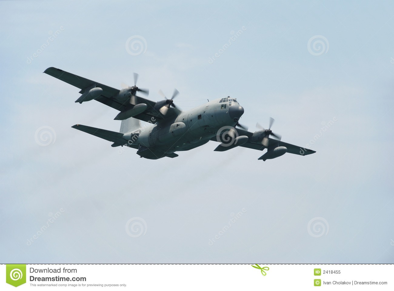 C 130 Military Transport Aircraft Royalty Free Stock Pho...
