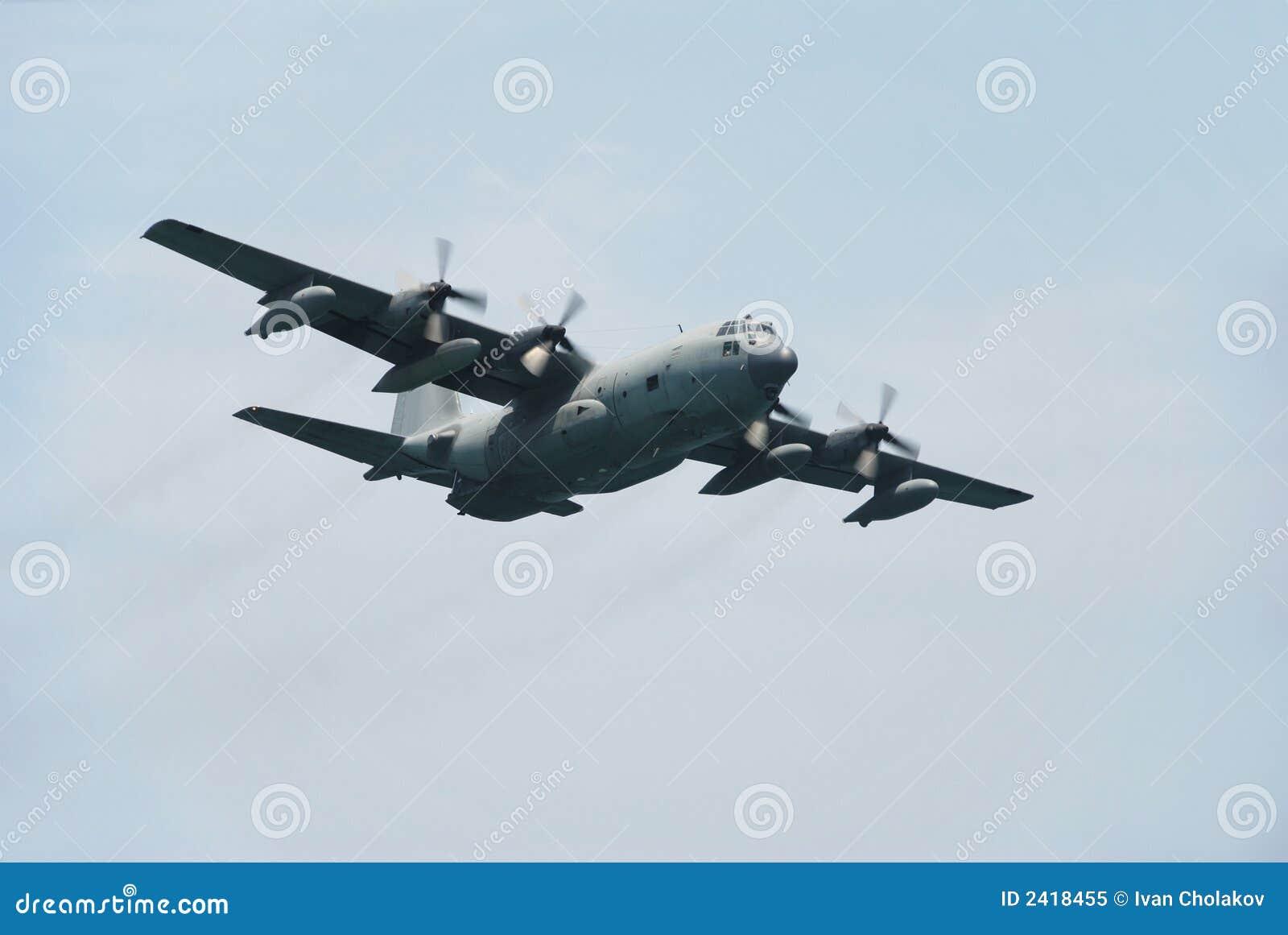 C-130 Military Transport Plane Royalty Free Stock Photo ...