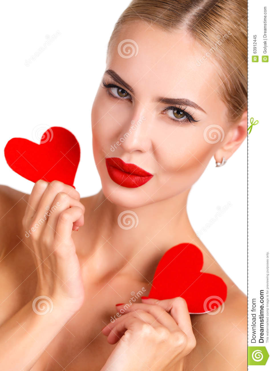 How to make beautiful and bright hearts out of clips 36