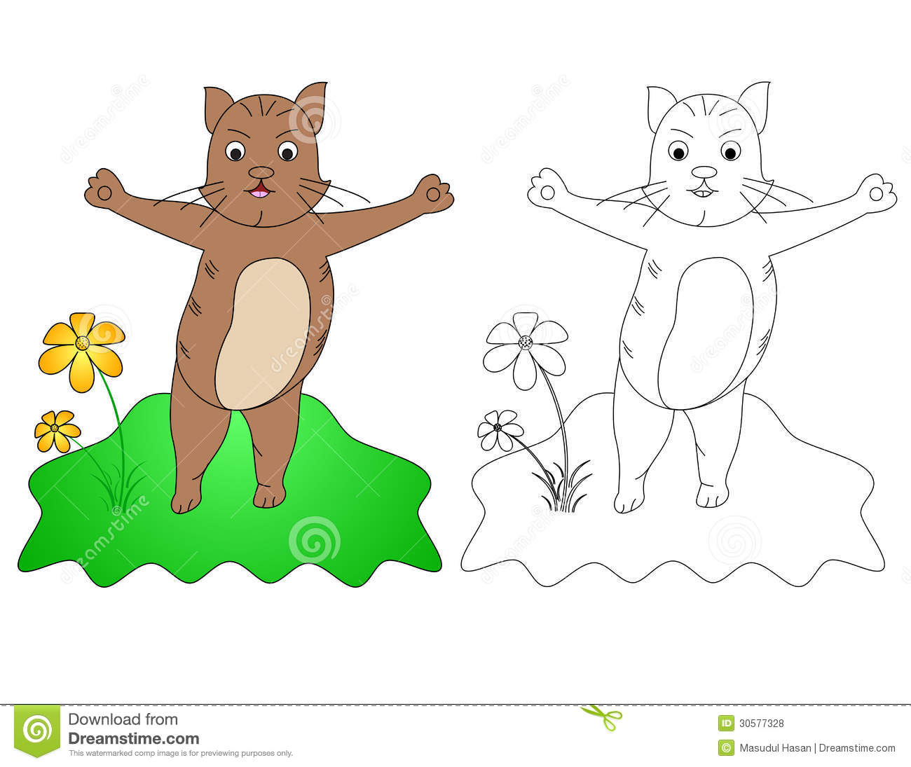 c for cat stock vector illustration of color animals 30577328 - Drawing And Colouring Pictures For Kids