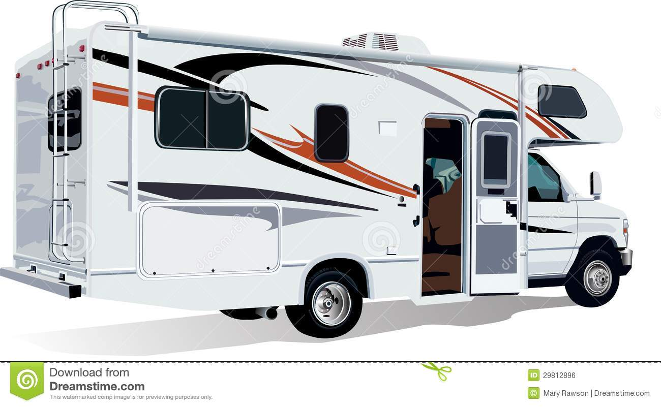 Rv C Class Camper Trailer Royalty Free Stock Image Image