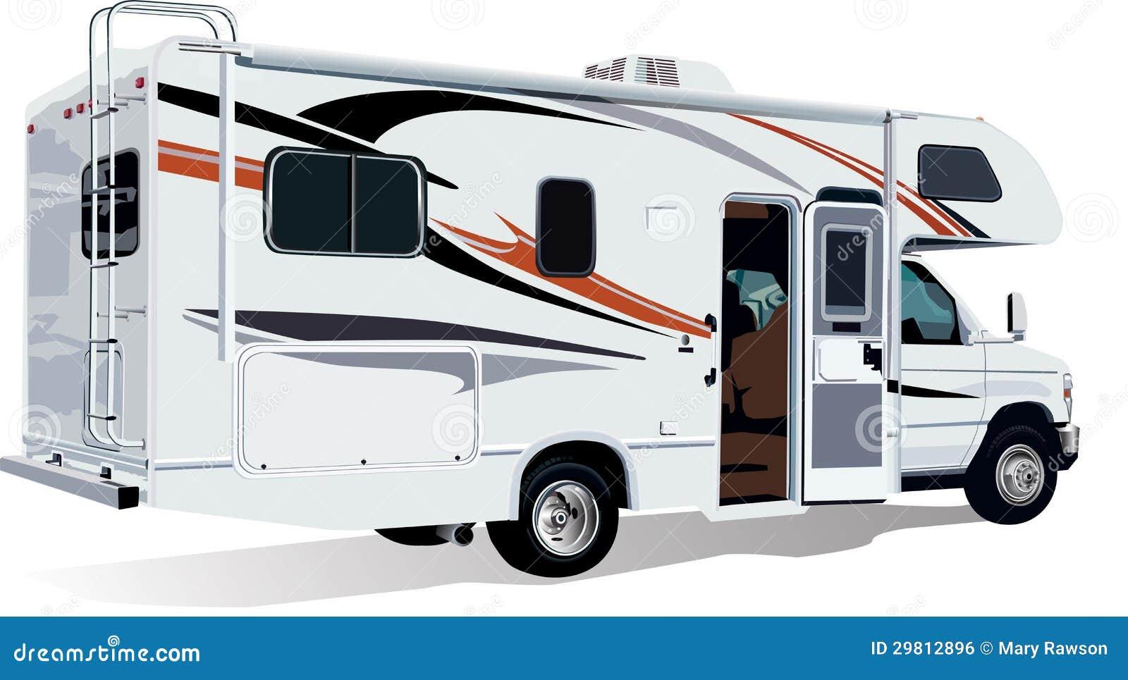 Rv C Class Camper Trailer Stock Photo Image Of Truck