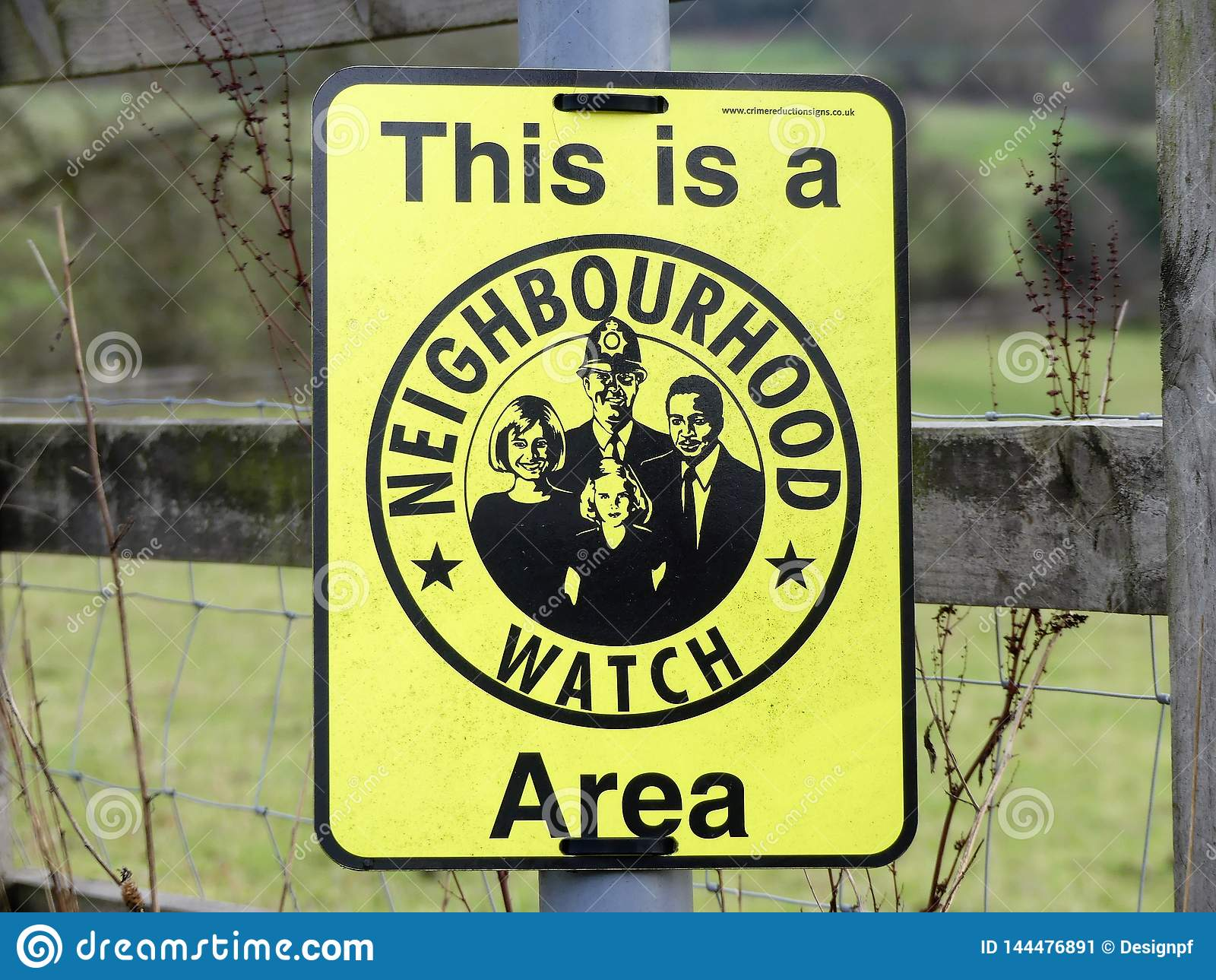 C est un signe de région de montre de voisinage