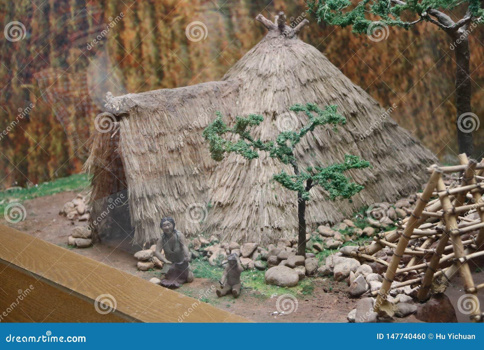 C est une reproduction du bâtiment original de man's dans le musée de culture de Hongshan en Chine