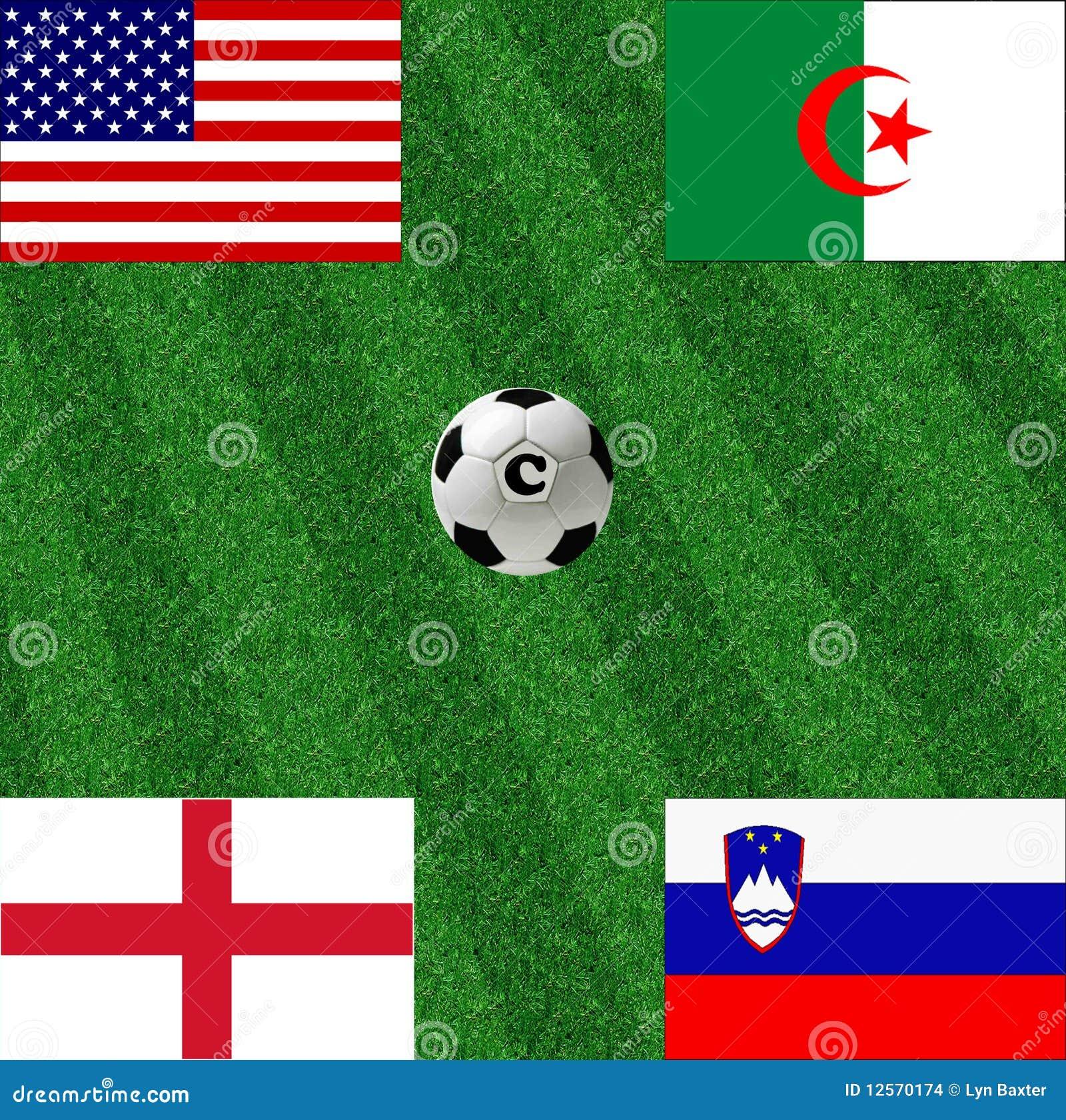 C filiżanki grupy piłki nożnej świat