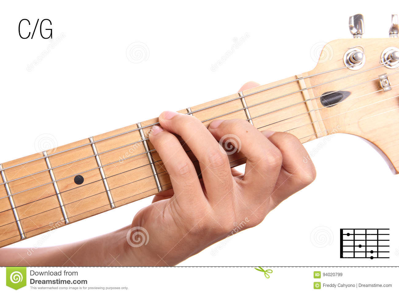 Cg Guitar Chord Tutorial Stock Image Image Of Minor 94020799