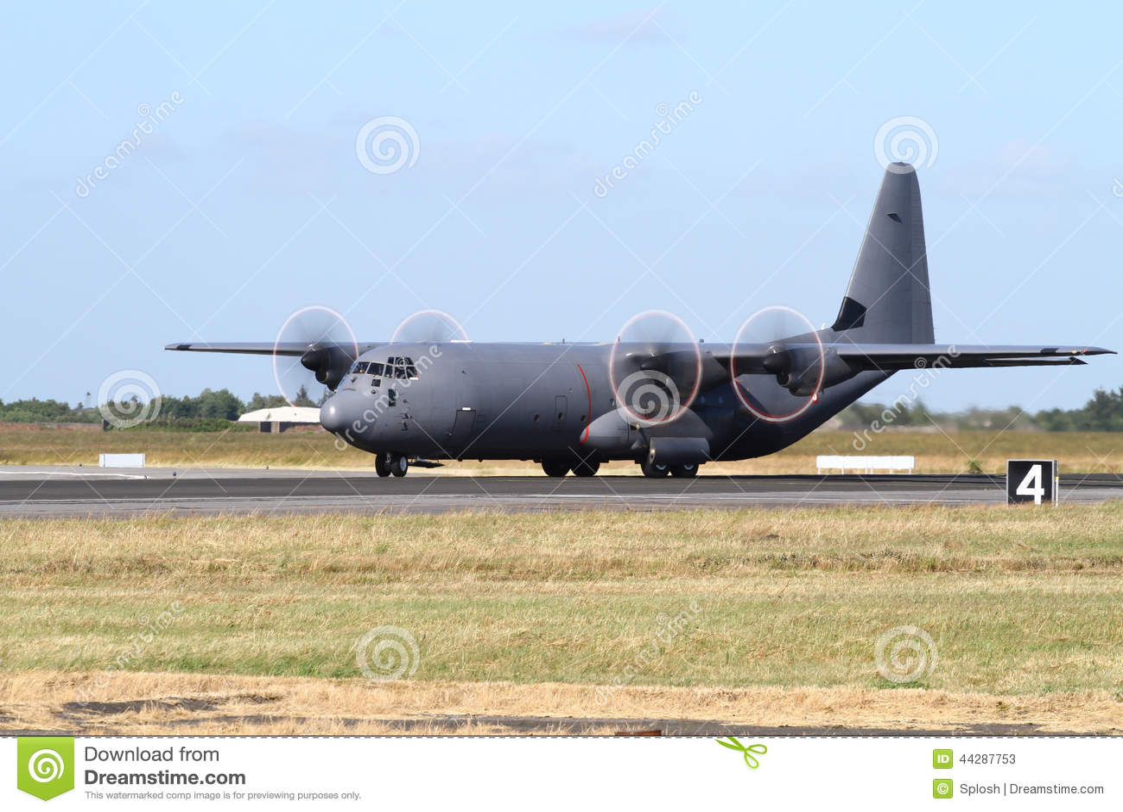 C-130 Hercules Military Transport Plane Stock Image ...