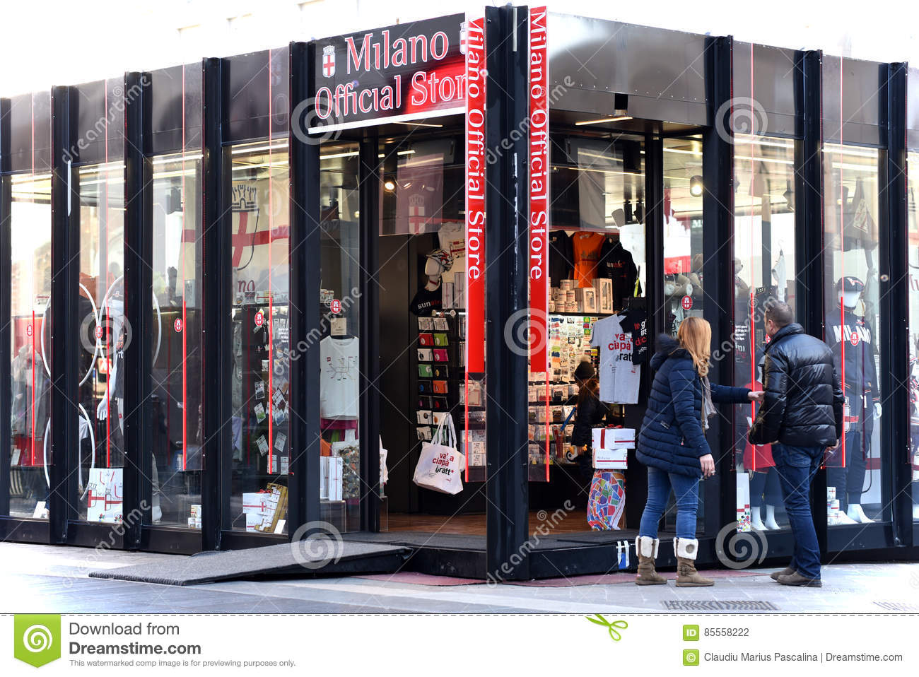 4e928d77 A.C.Milan Official Store editorial photography. Image of shirt ...
