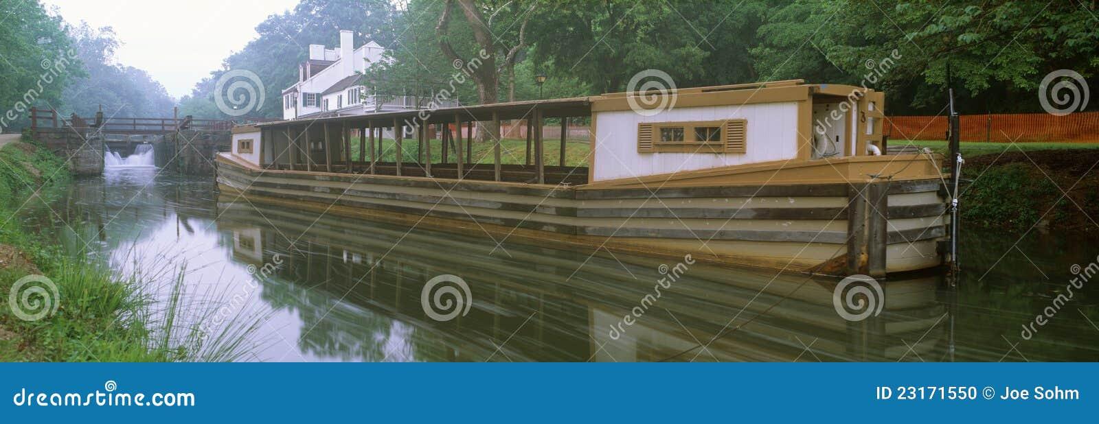 C&O-kanal och kanalfartyg