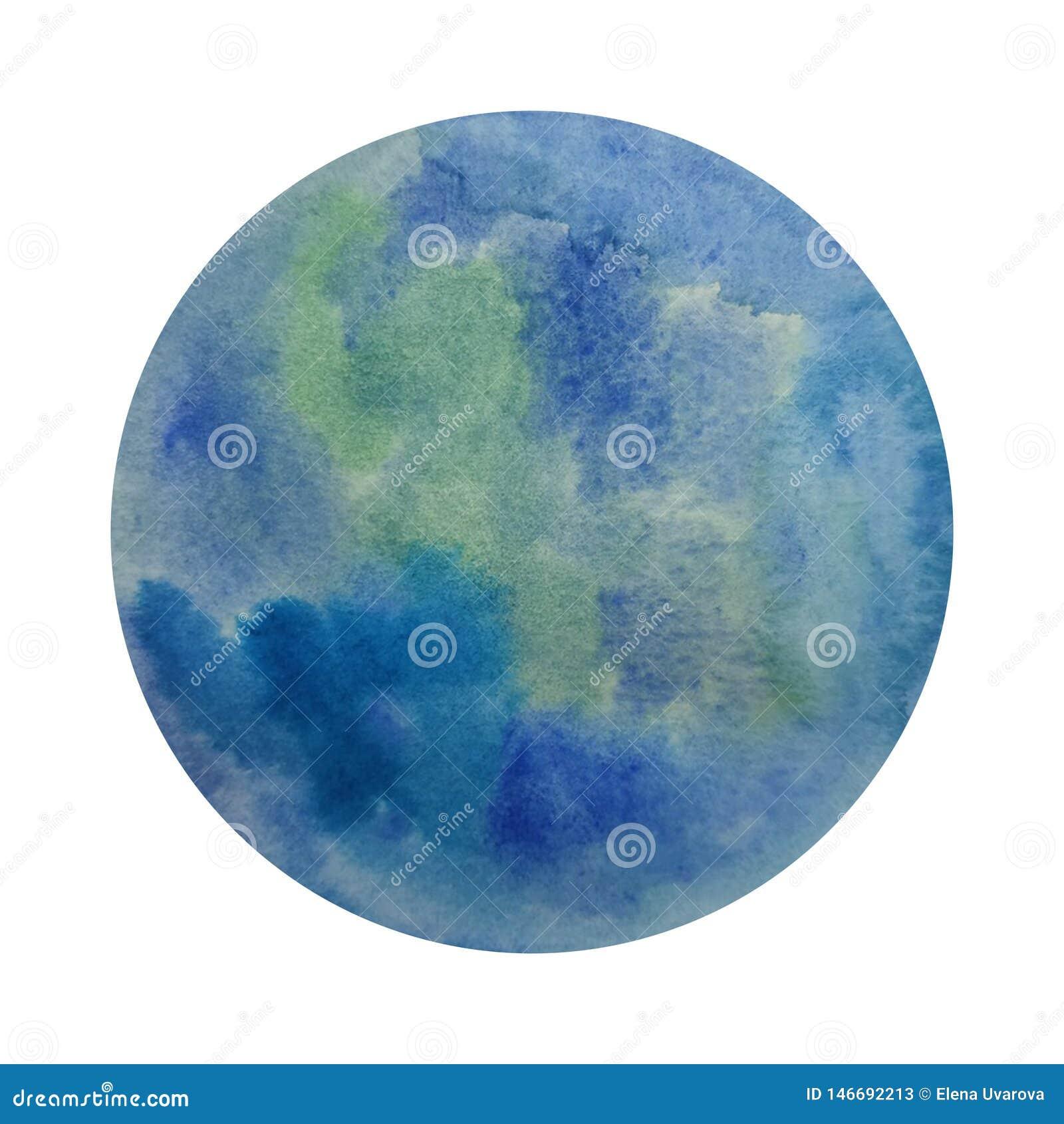 C?rculo de la acuarela Azulverde