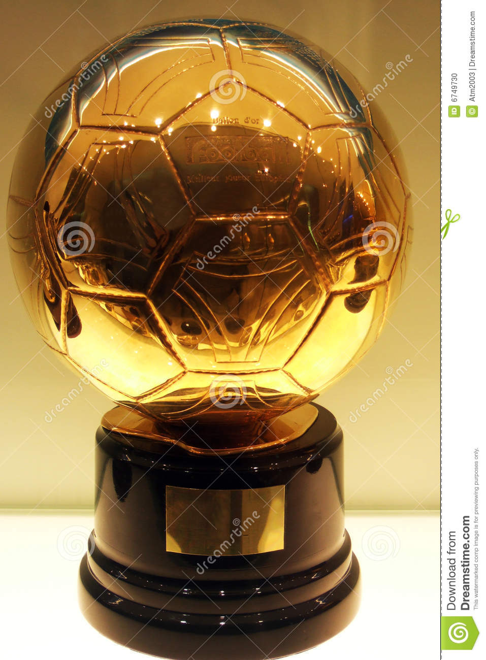 c  ronaldo golden football editorial image