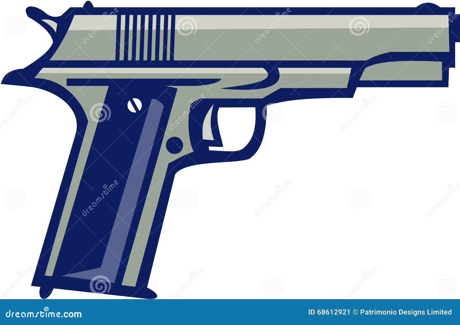 Côté du pistolet 1911 semi-automatique rétro