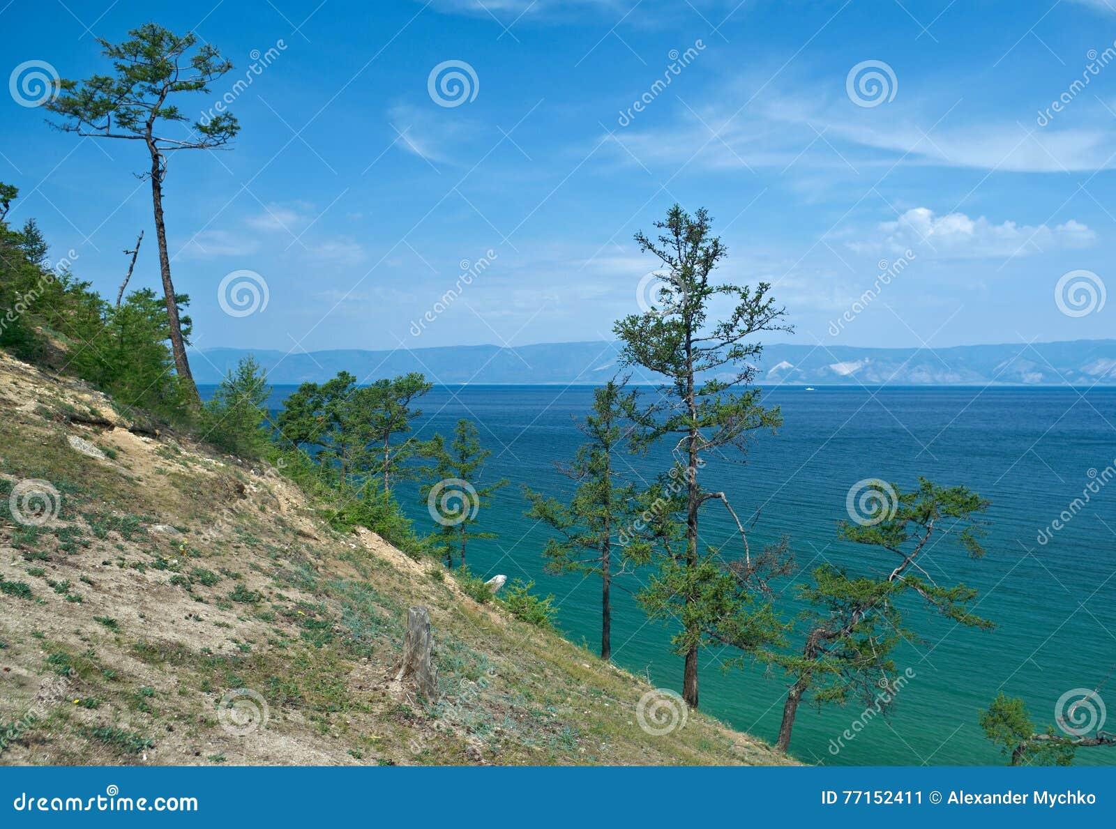 Côte d île d Olkhon,