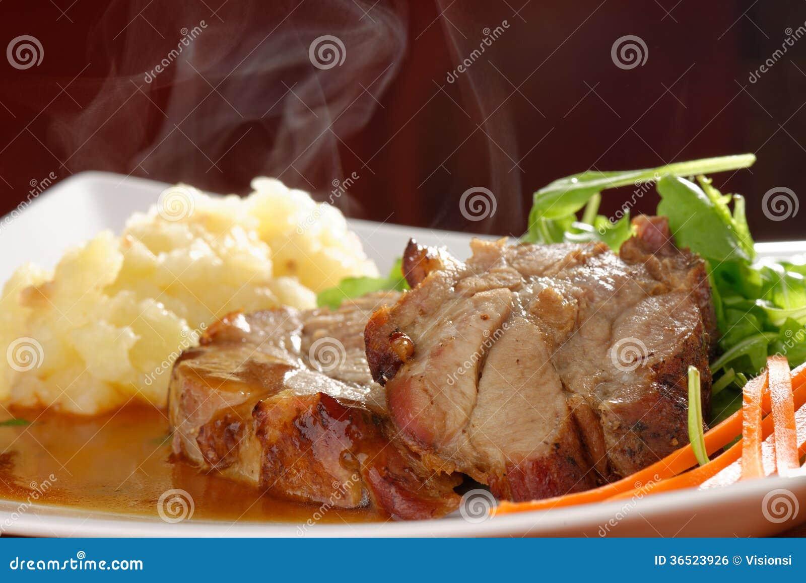 Côtelette de porc frite