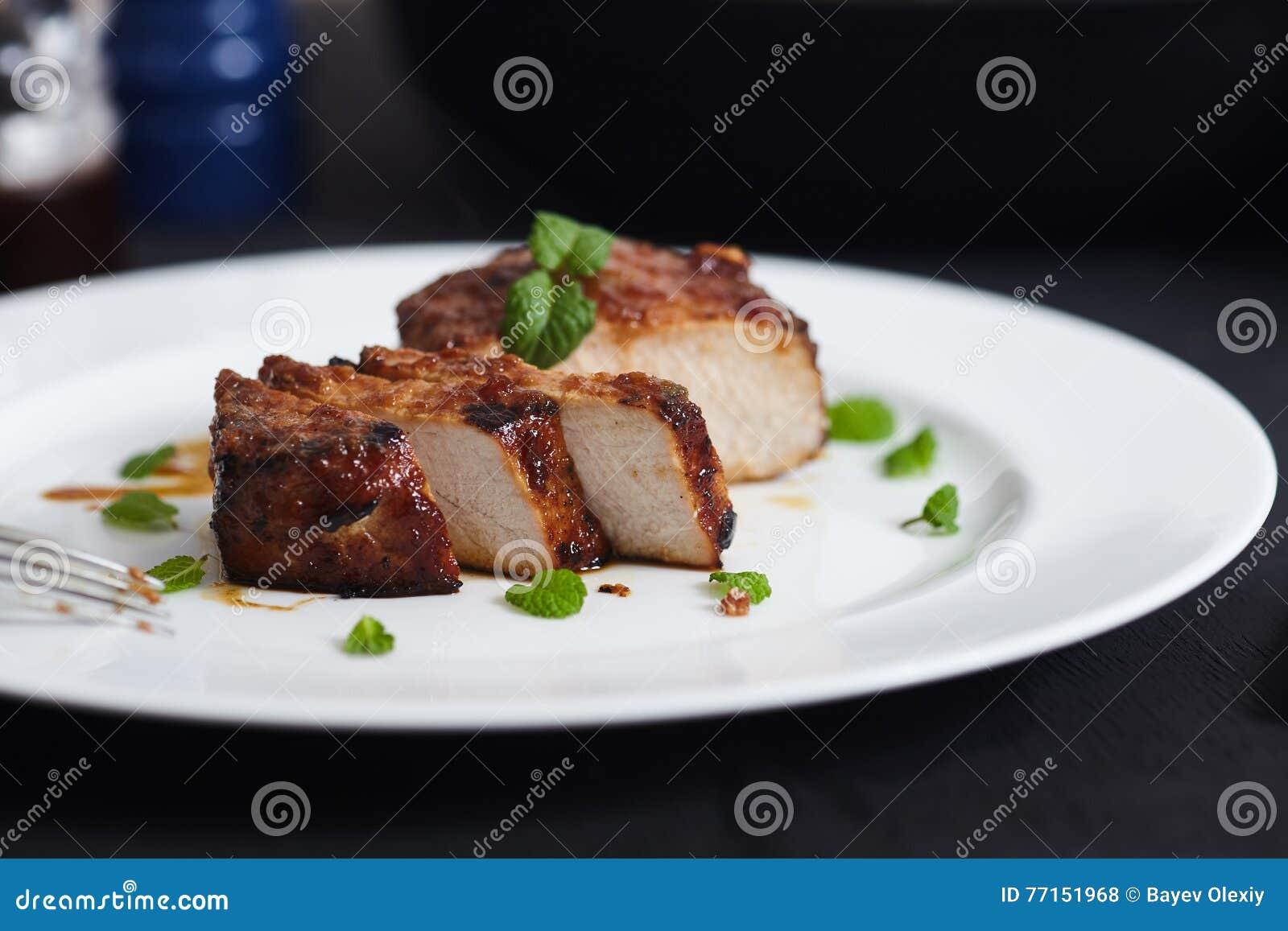 Côtelettes de porc coréennes de style