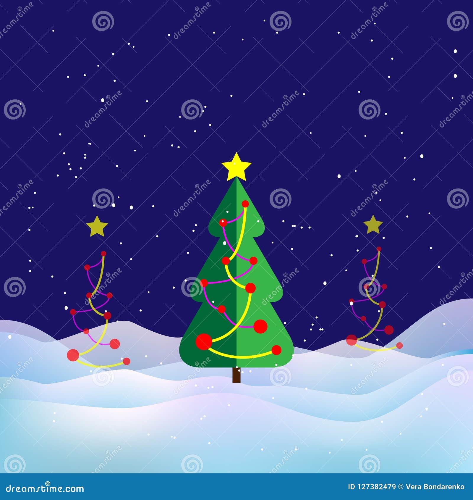 33c ural χειμώνας θερμοκρασίας της Ρωσίας τοπίων Ιανουαρίου Χριστουγεννιάτικο δέντρο, χιόνι και snowdrifts