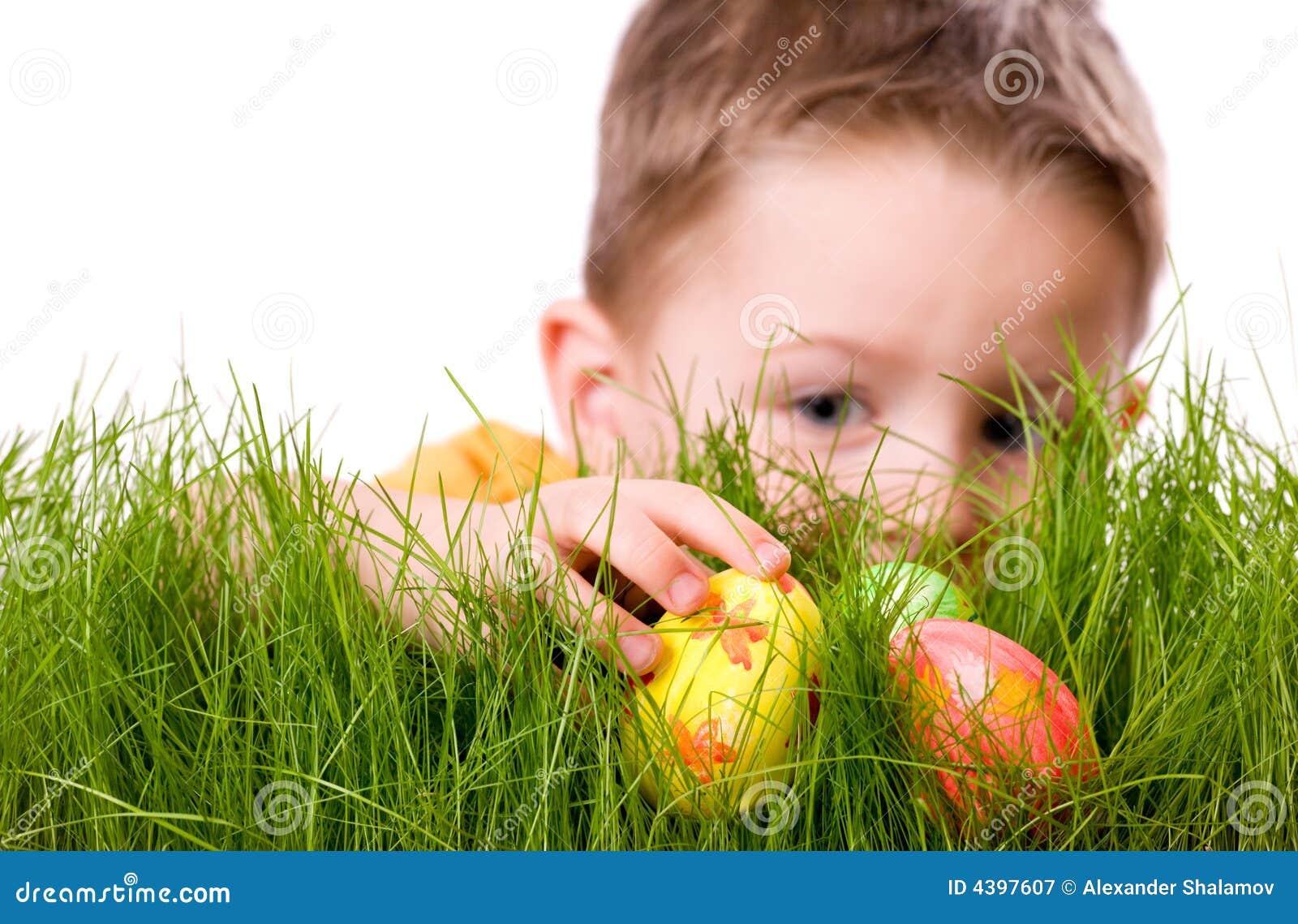 Caça do ovo de Easter