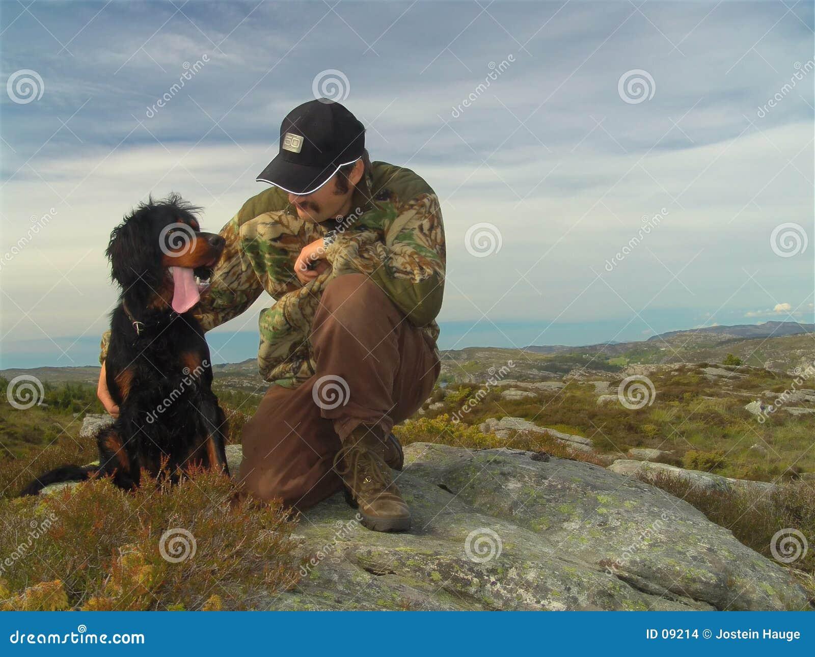 Caçador e seu cão