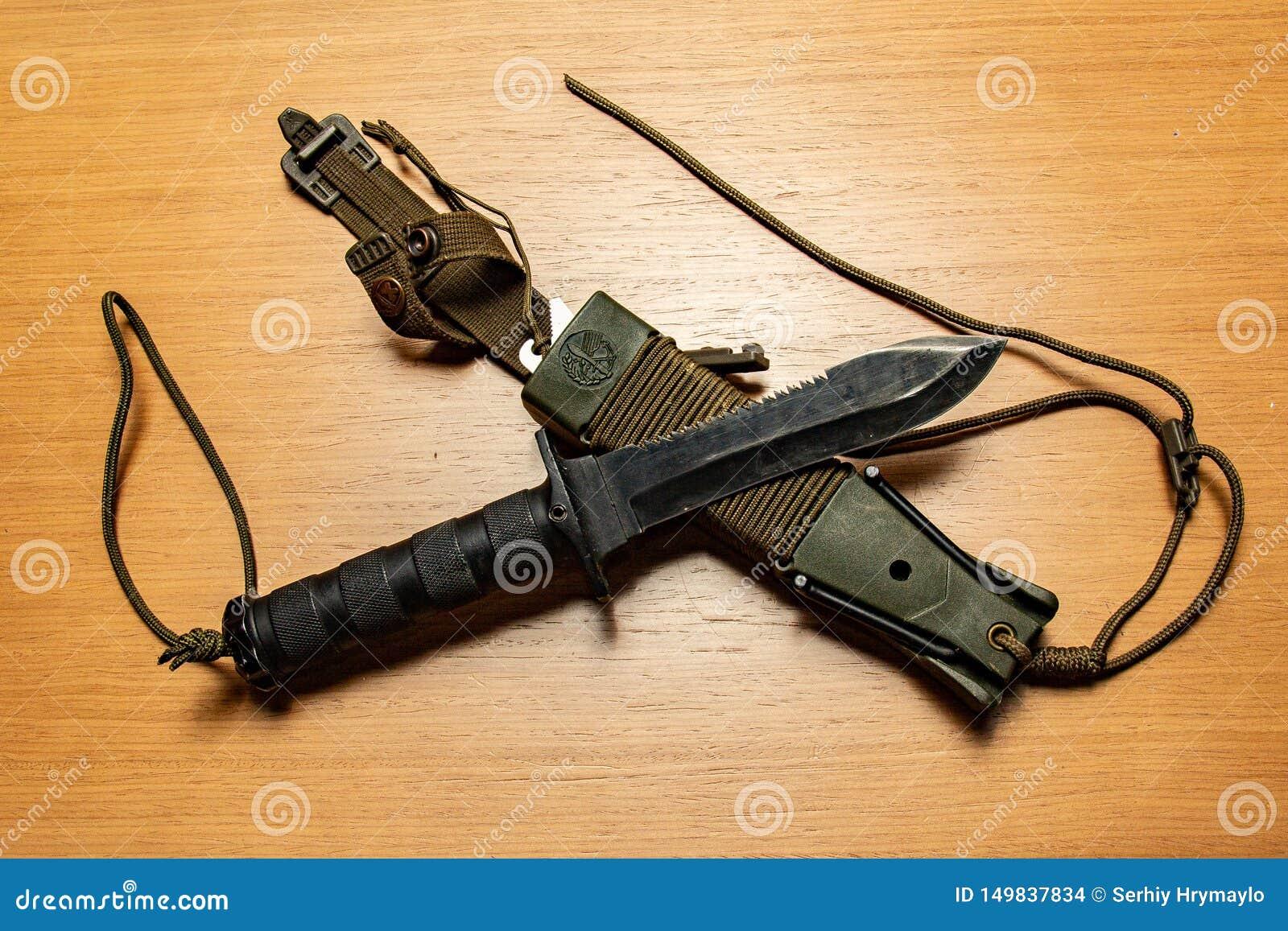 Caçando ou faca de pesca