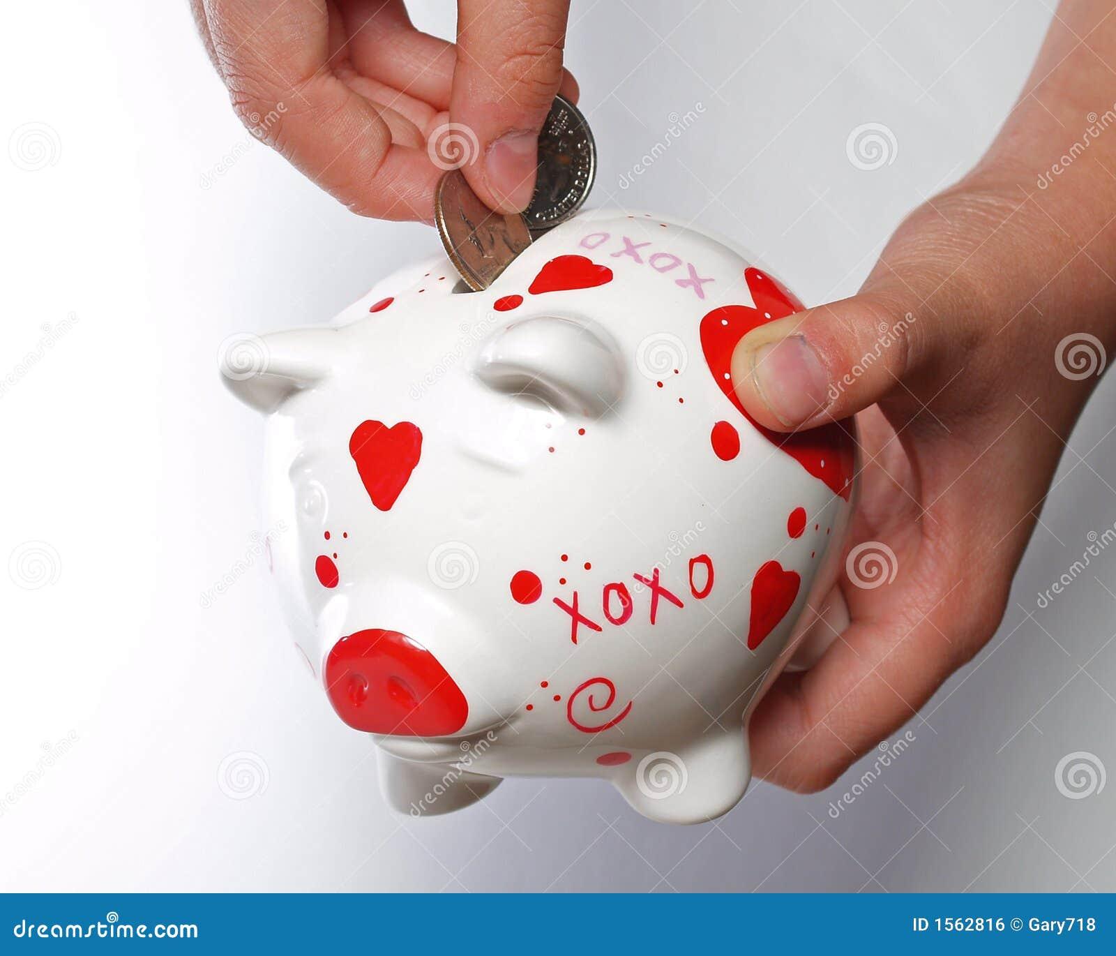 Caçoe as mãos com banco piggy #2