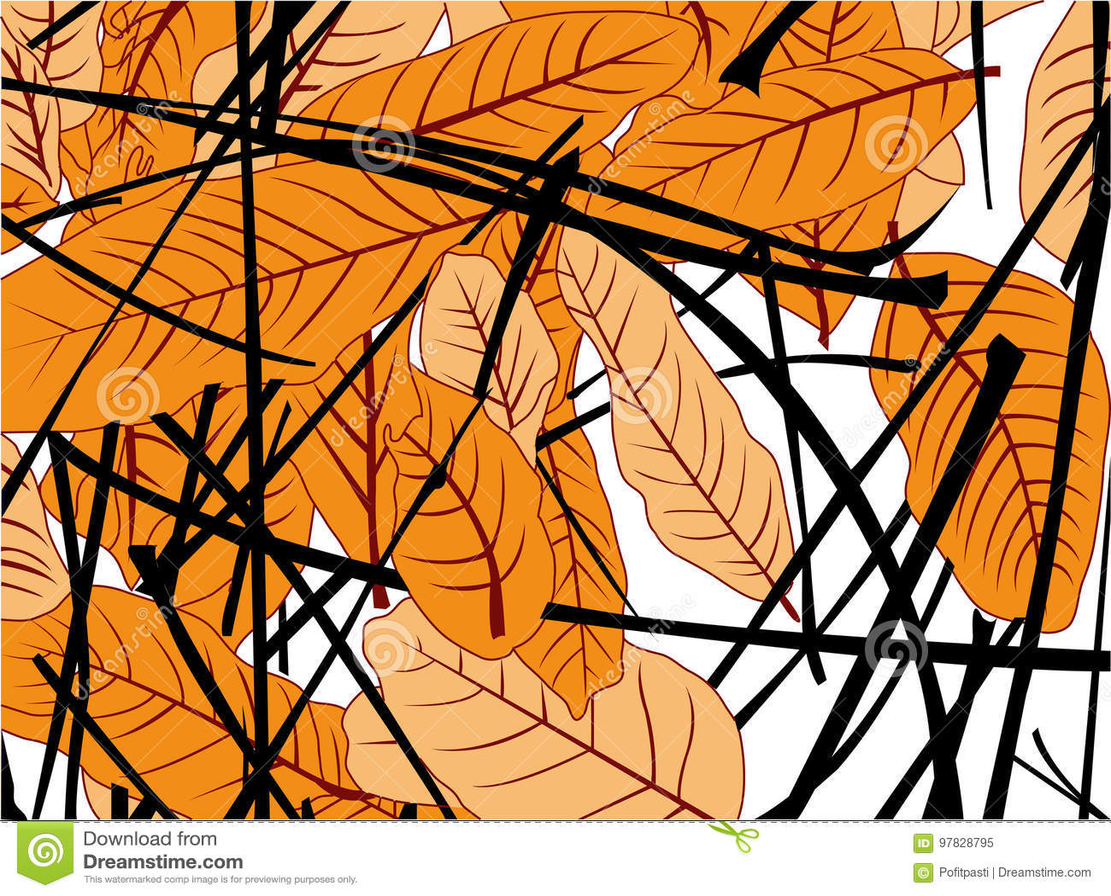 Caída de las hojas del mango