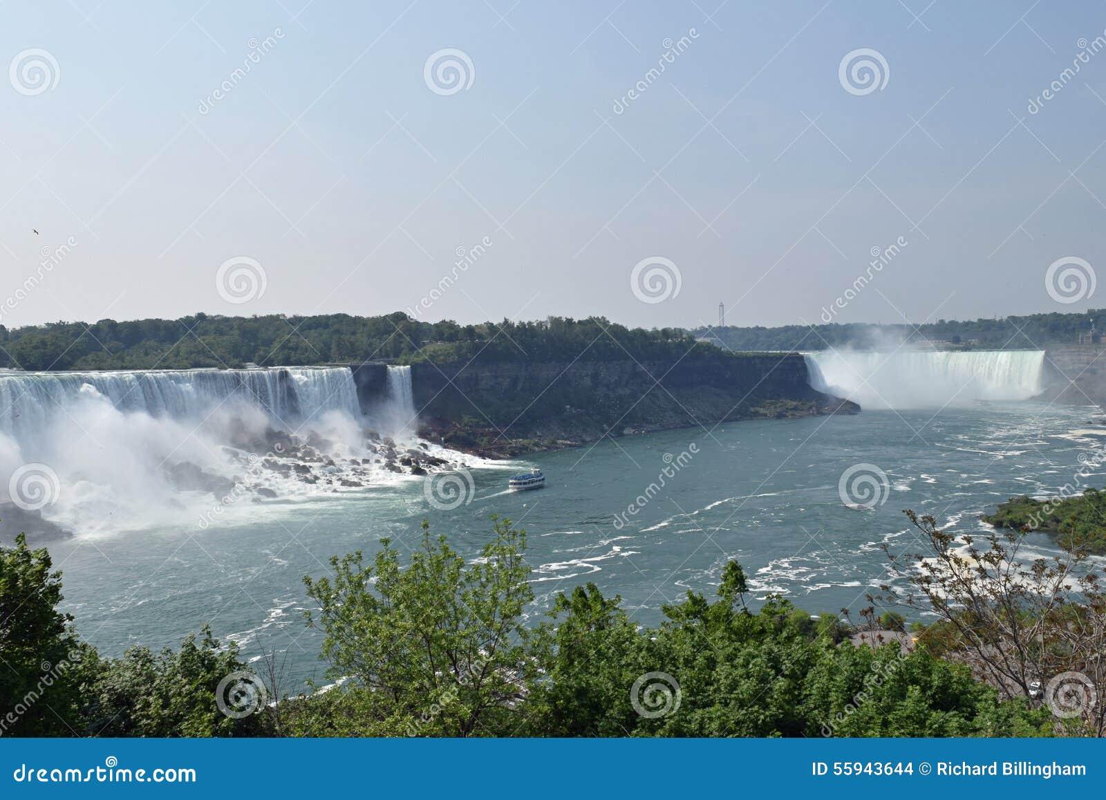 Caída Niagara Falls Ontario Canadá del americano y de la herradura
