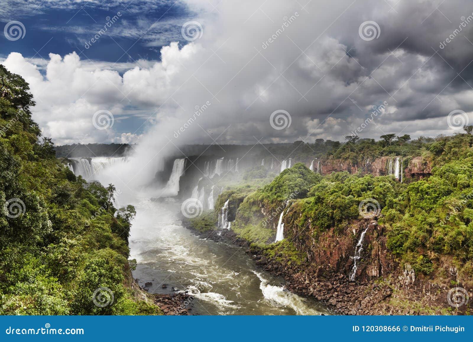 Caídas de Iguassu, visión desde la cara brasileña