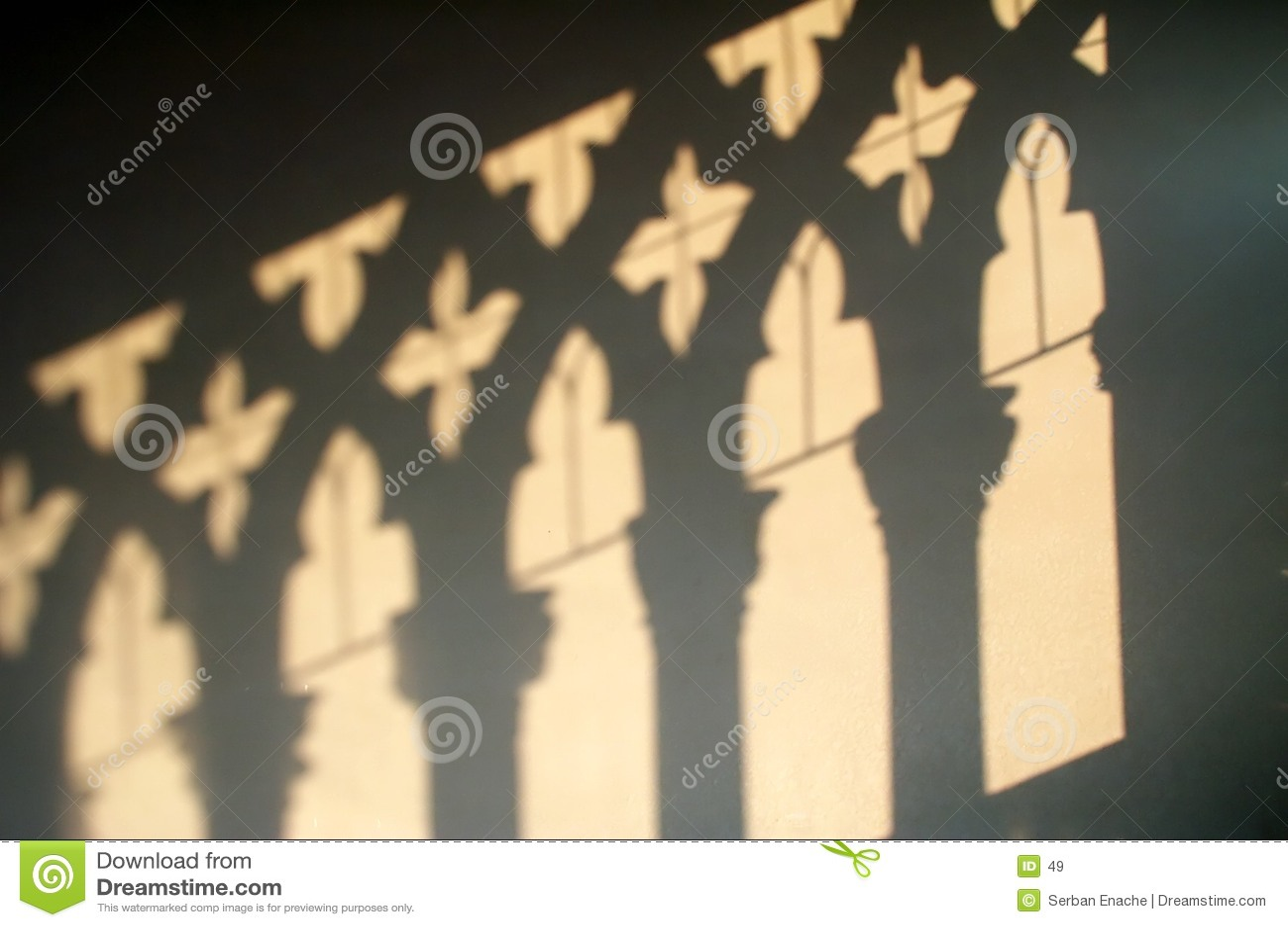 Ca D Oro - schaduwen op de muur