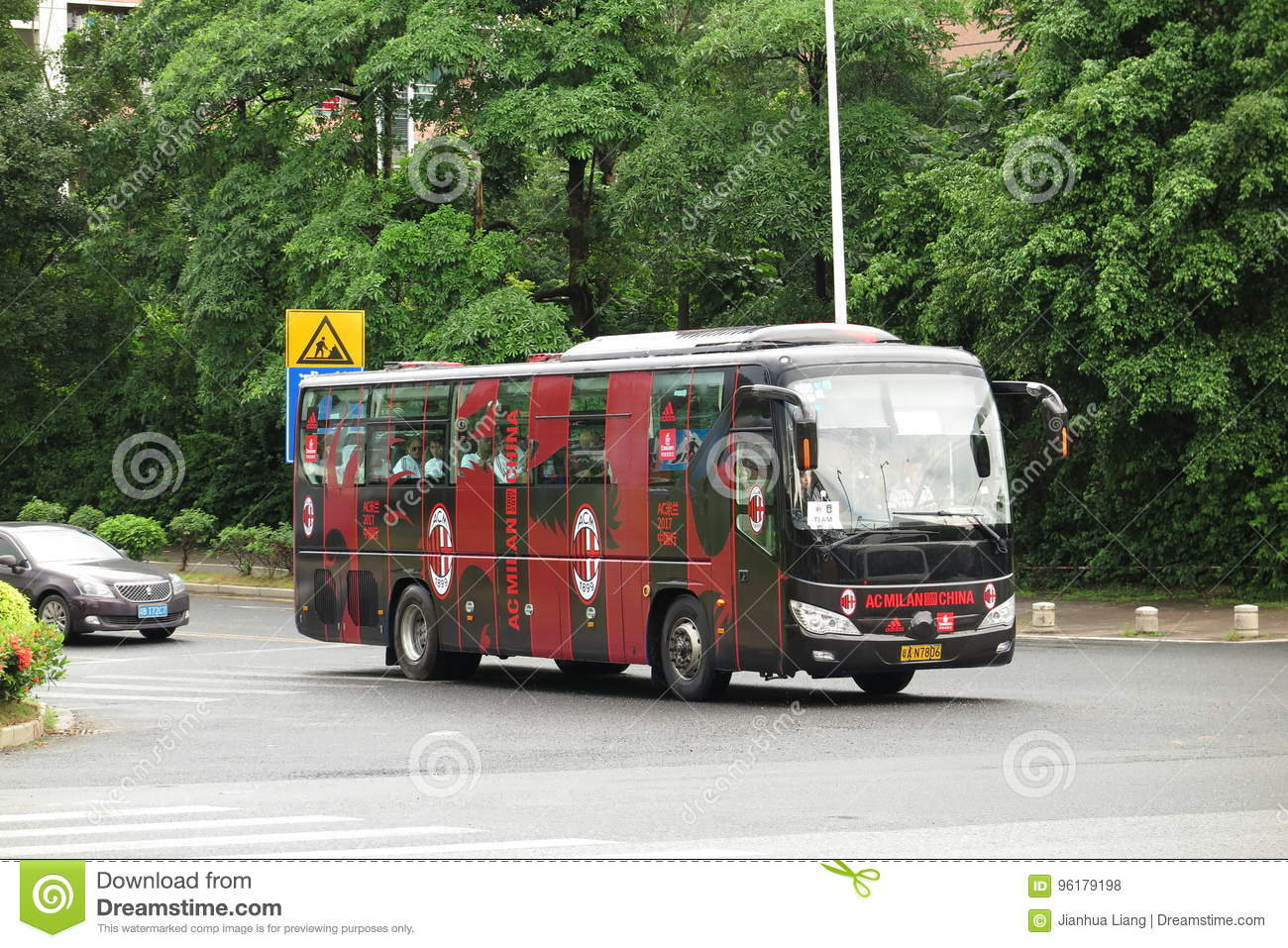 CA Milan Soccer Team Bus